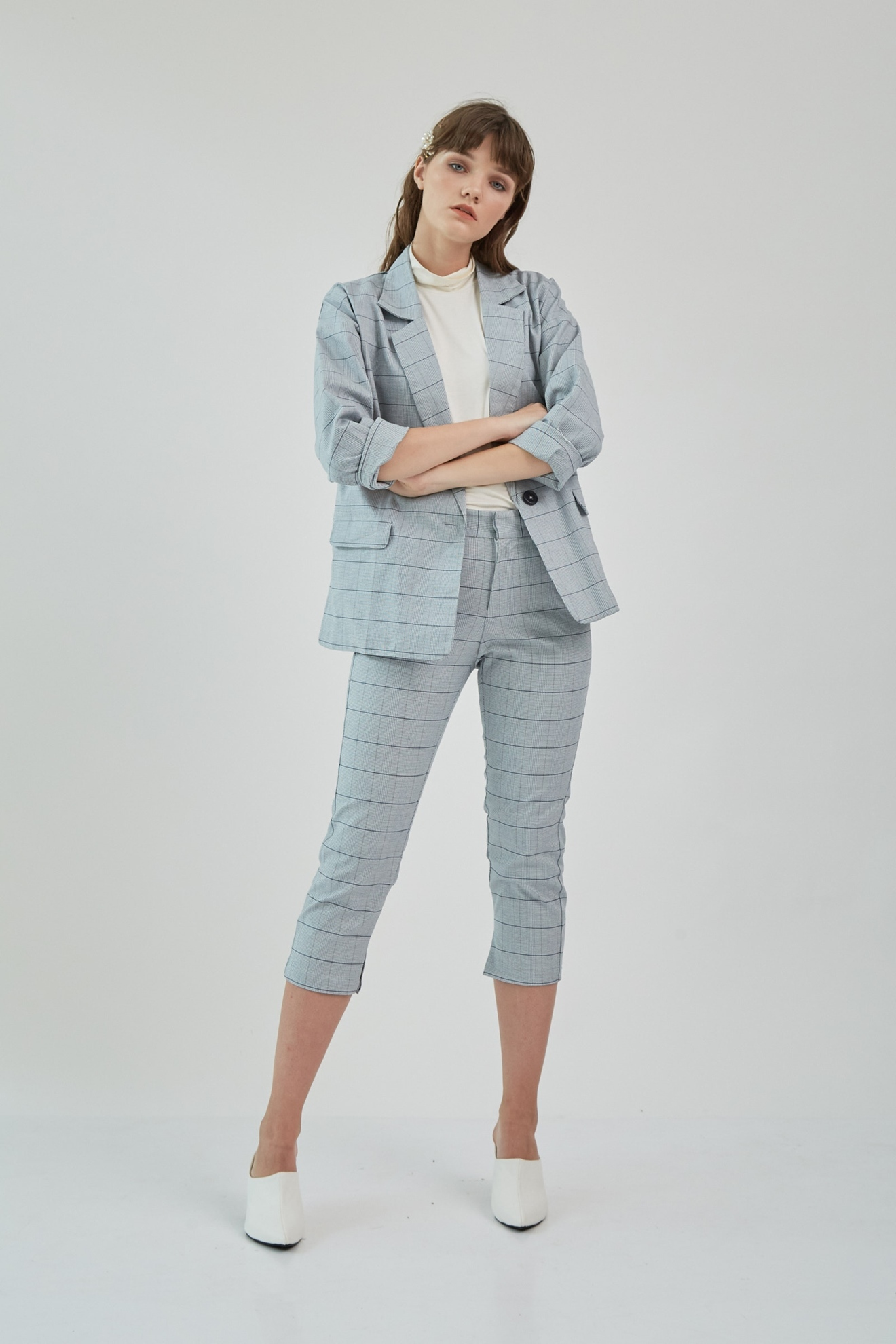 Picture of Charmita Blazer GreyCheckered