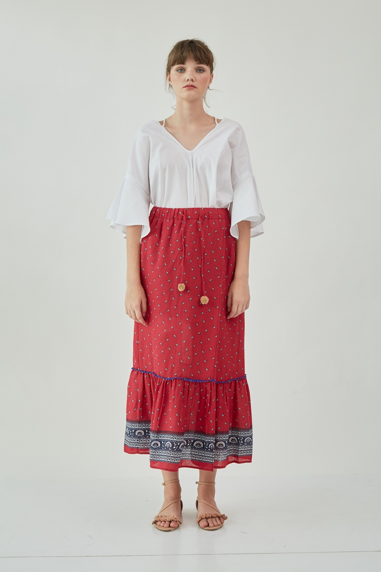 Picture of Rosalie Skirt Red Pattern