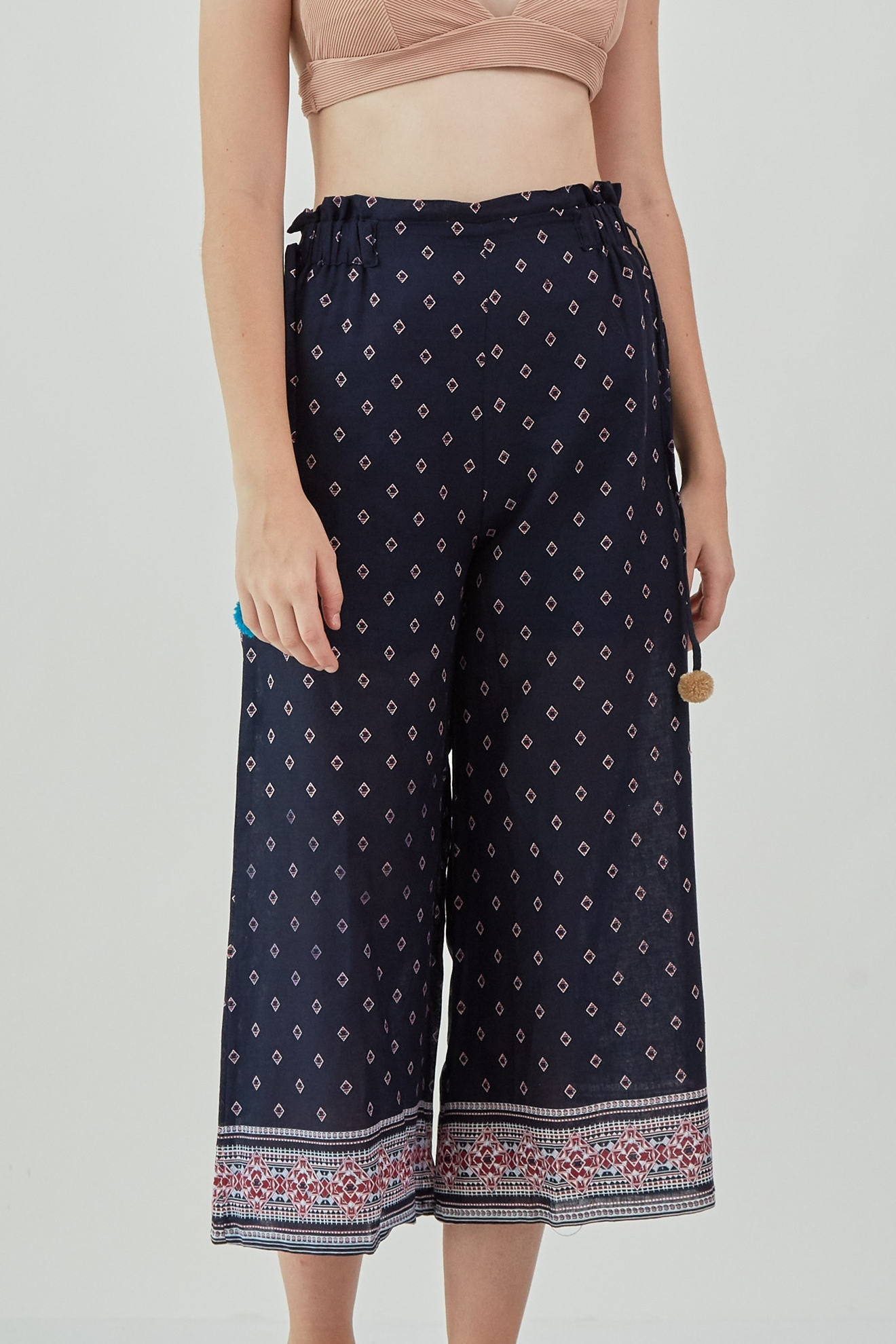 Picture of Philomena Cullote Navy Pattern