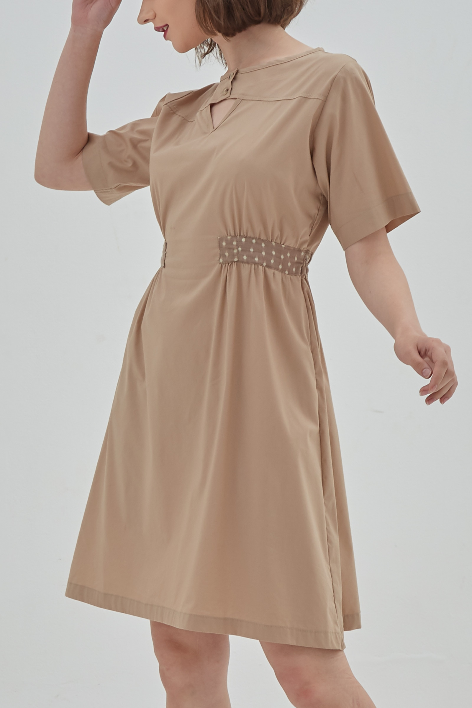 Picture of Vienna Dress KhakiDot