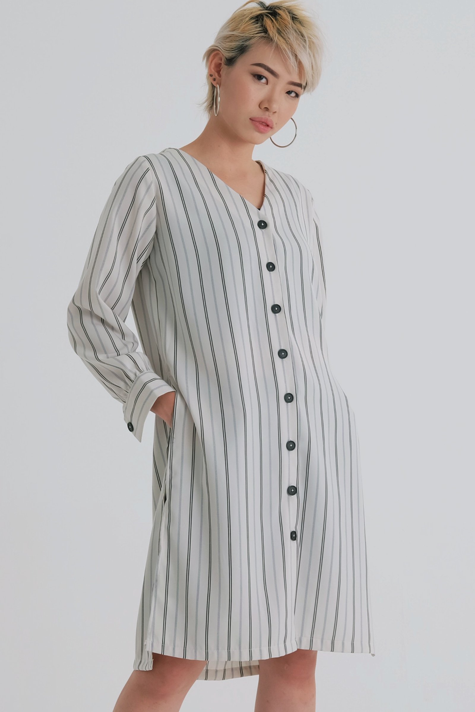 Picture of Bolton Slit Shirt IvoryStripe