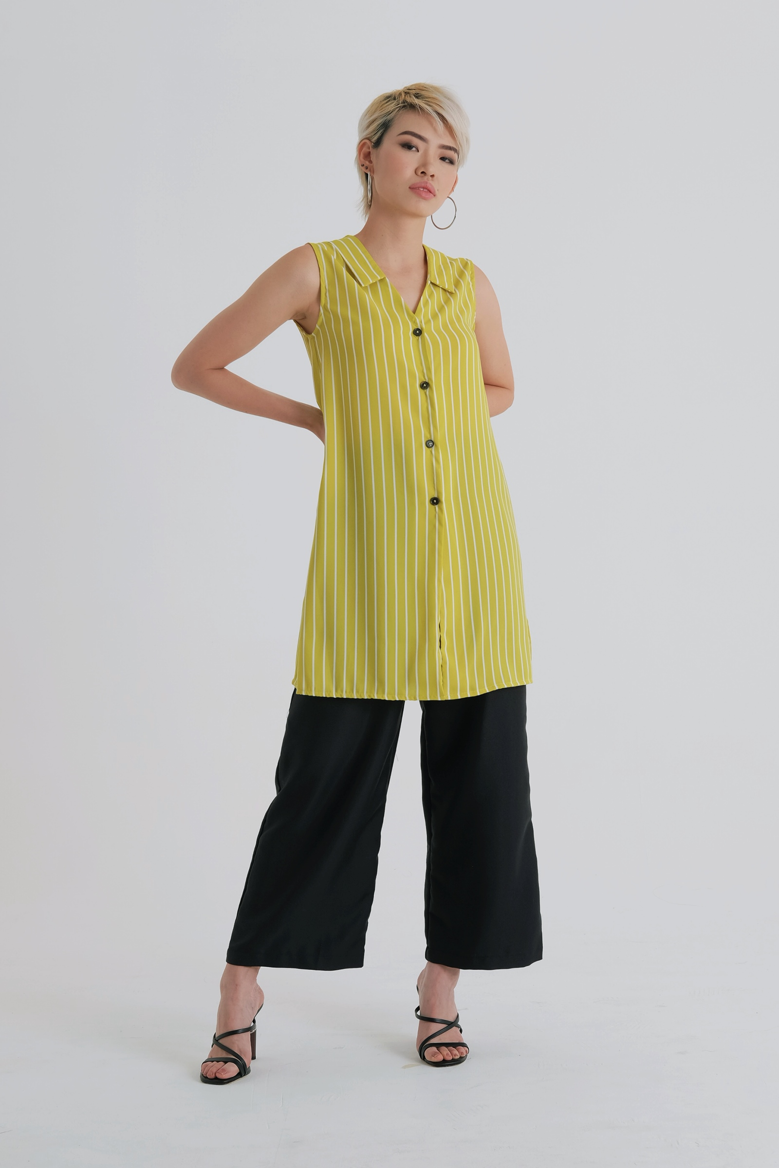 Picture of Curtis Slit Top NeonStripe