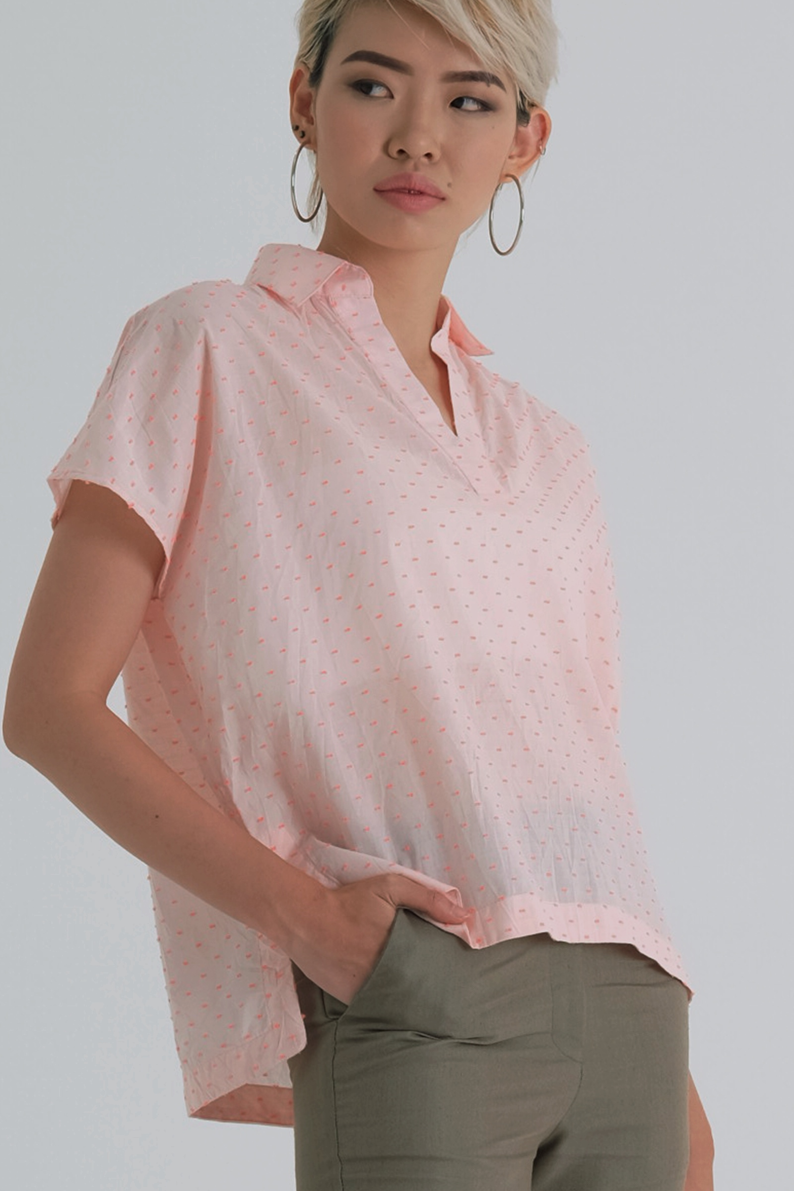 Picture of Zavina Blouse PopPink Pattern