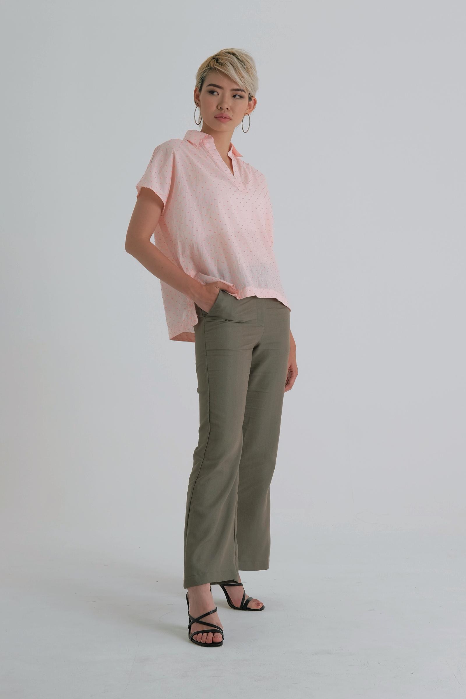 Picture of Zavina Blouse PopPink Pattern