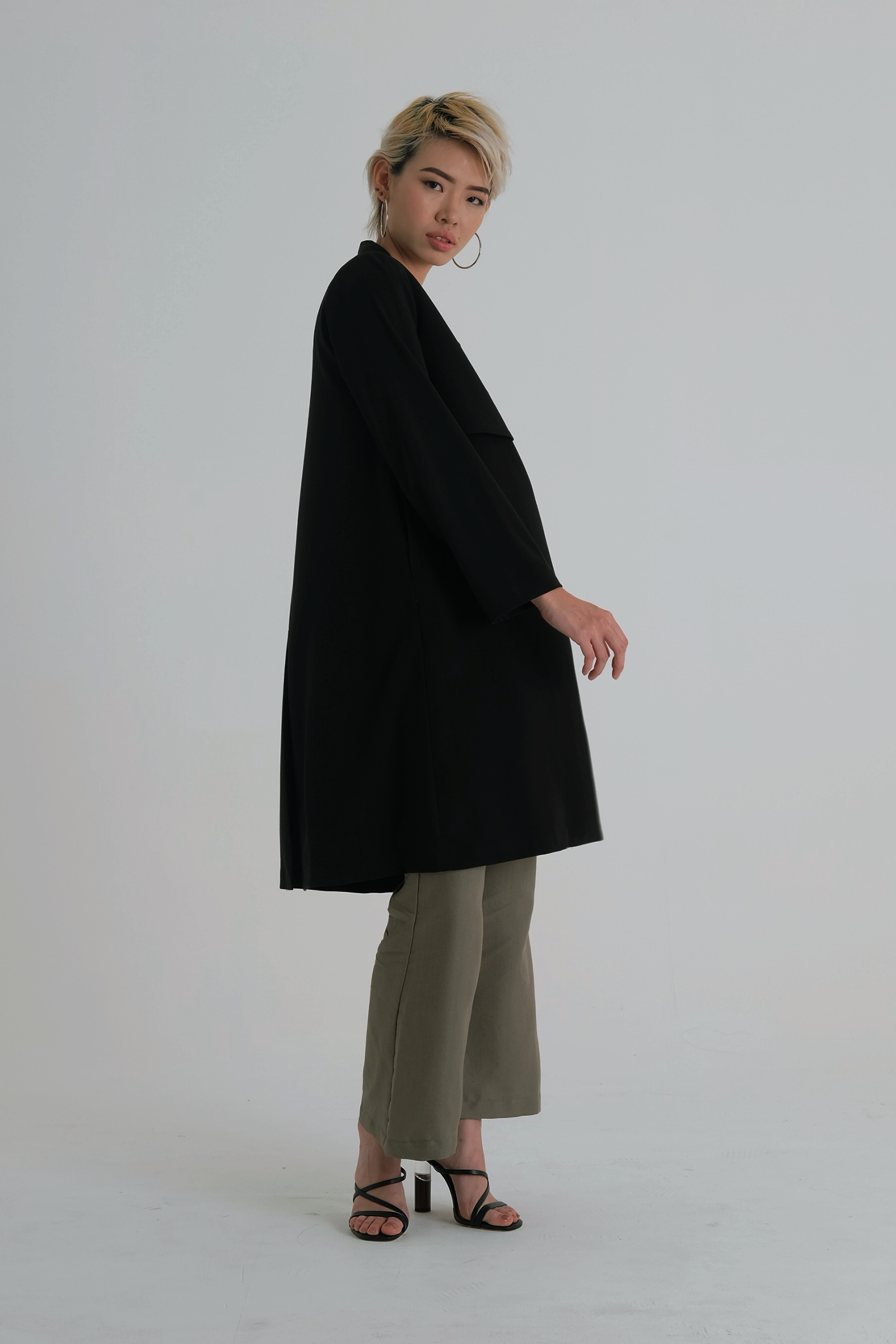 Picture of Dasavalla Long Coat Black