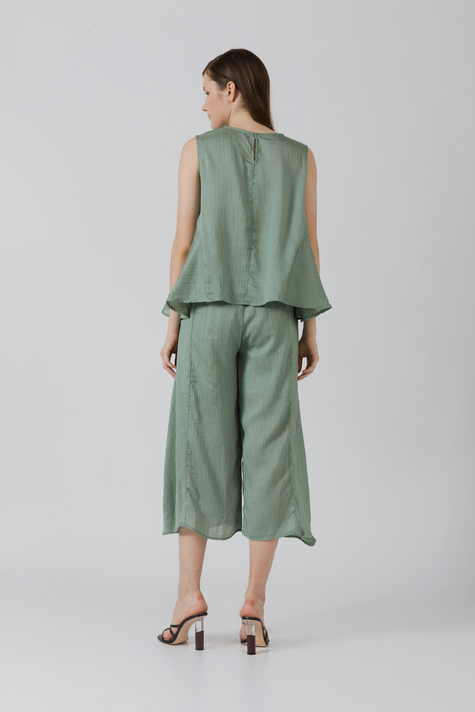Picture of Karensa Pleats Blouse LilyGreen