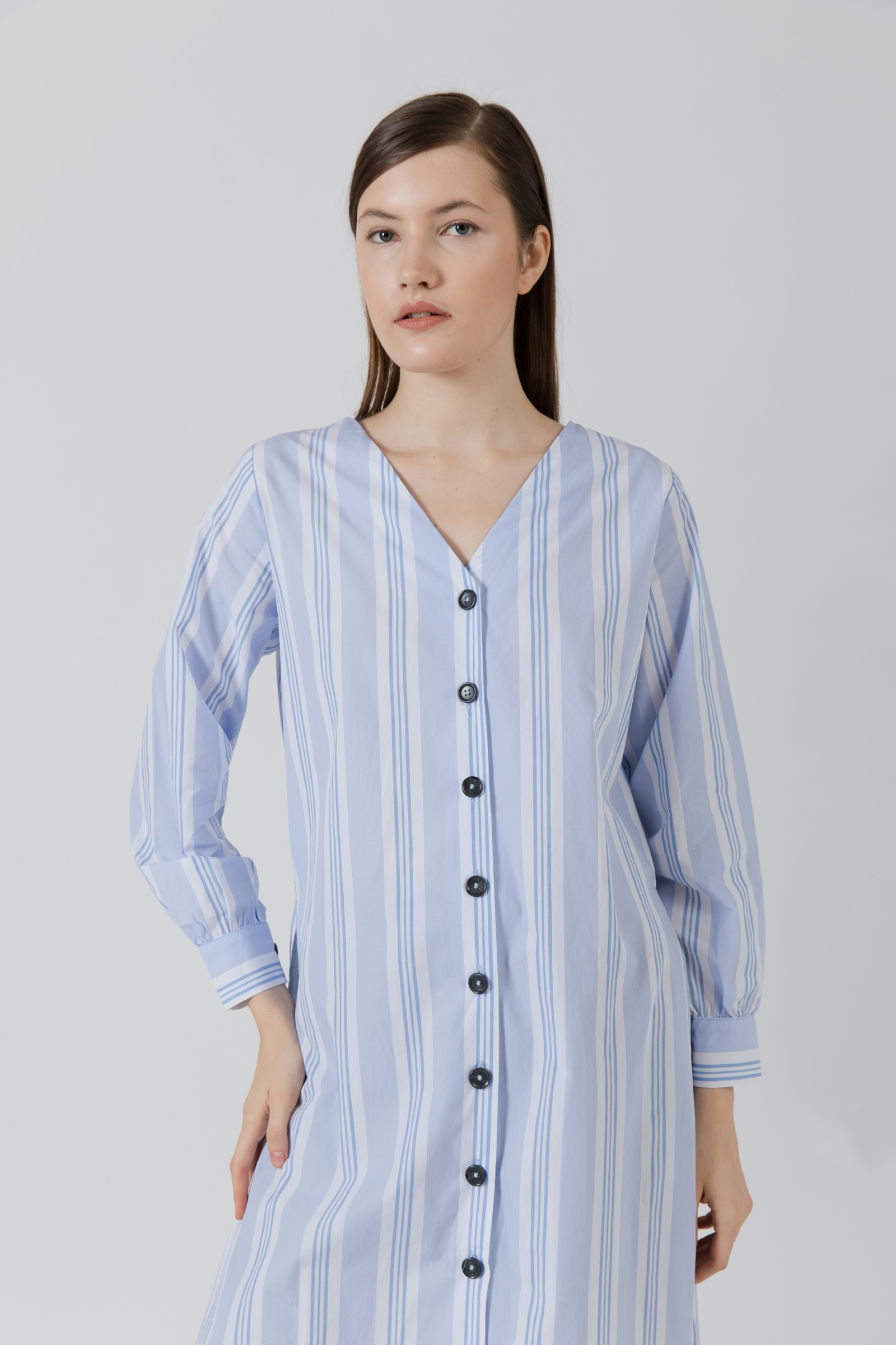 Picture of Bolton Slit Shirt BlueStripe
