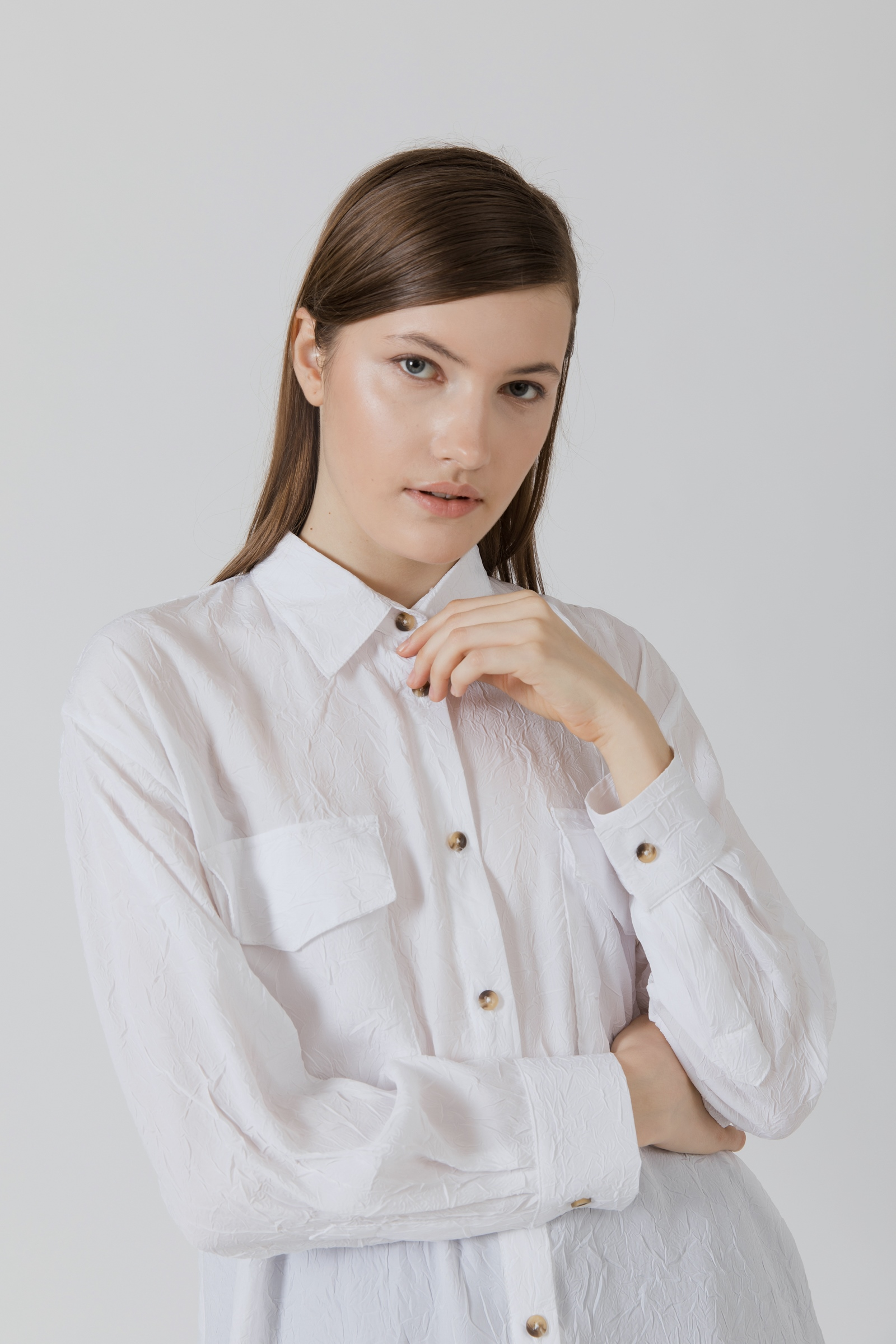 Picture of Verva Shirt Ivory Wrinkle
