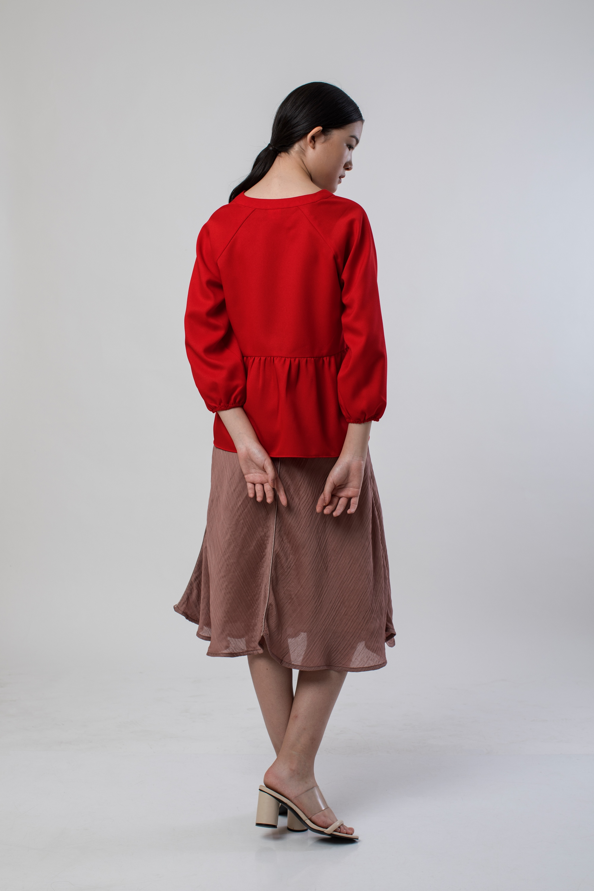 Picture of CLIONA BLOUSE CHILLI RED