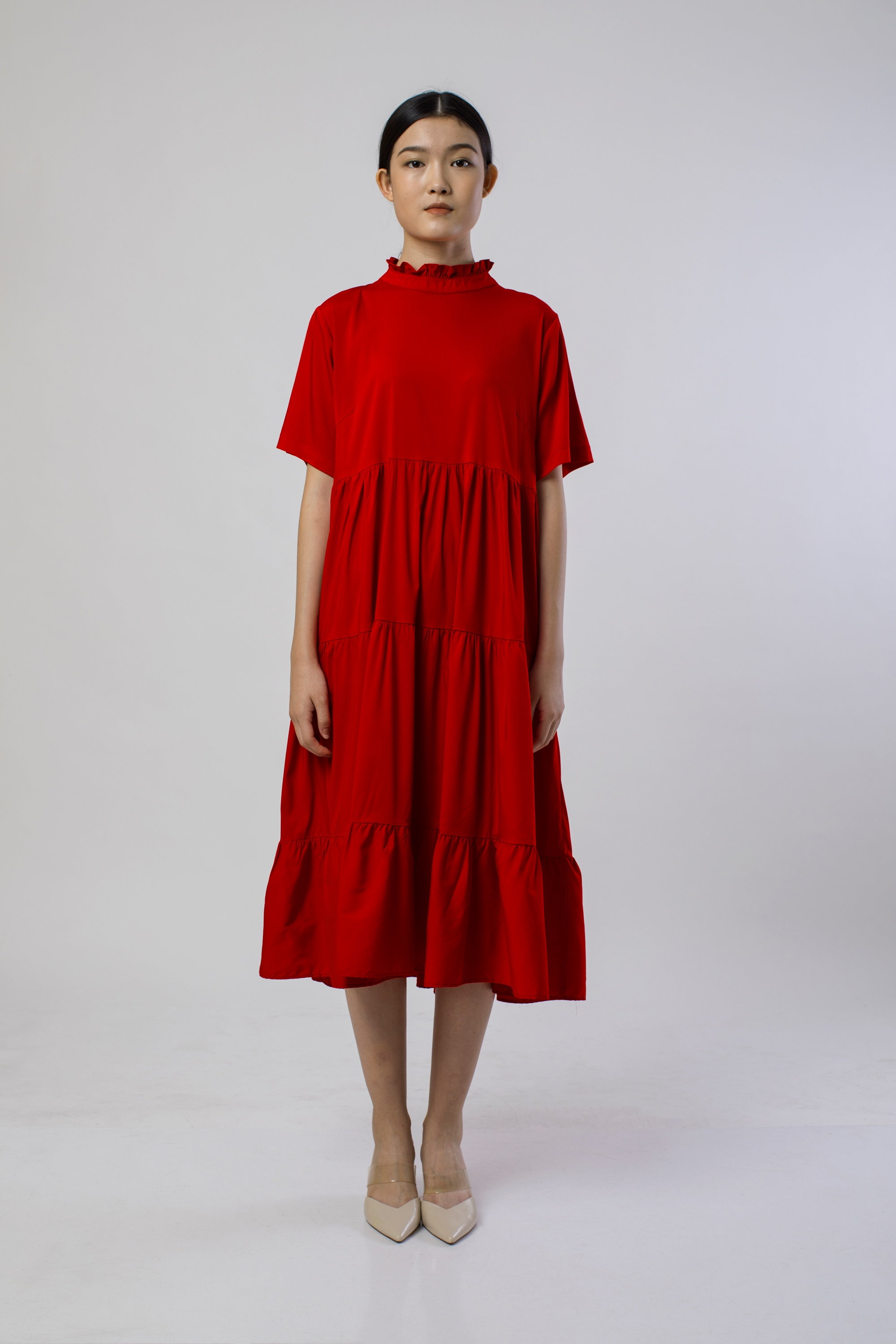 Picture of ARCANANIA DRESS CHILLI RED
