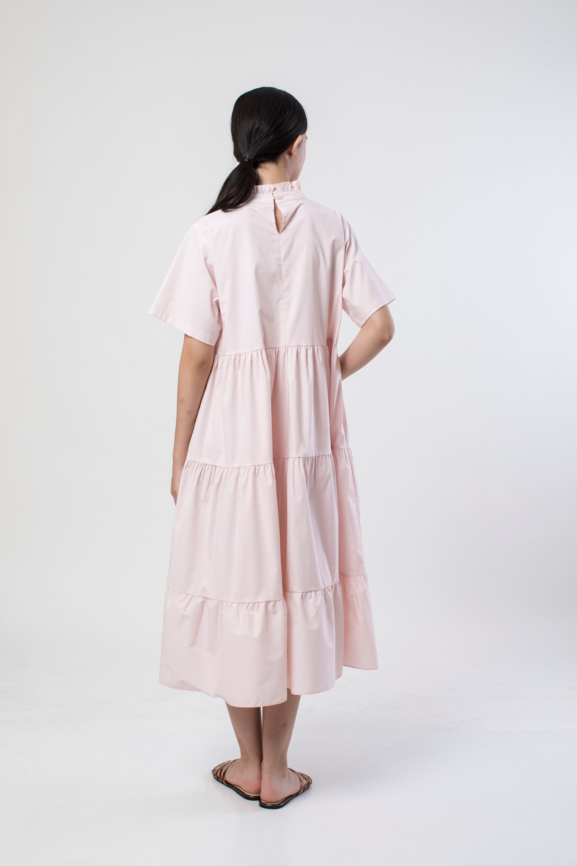 Picture of ARCANANIA DRESS CHAMPAGNE ROSE