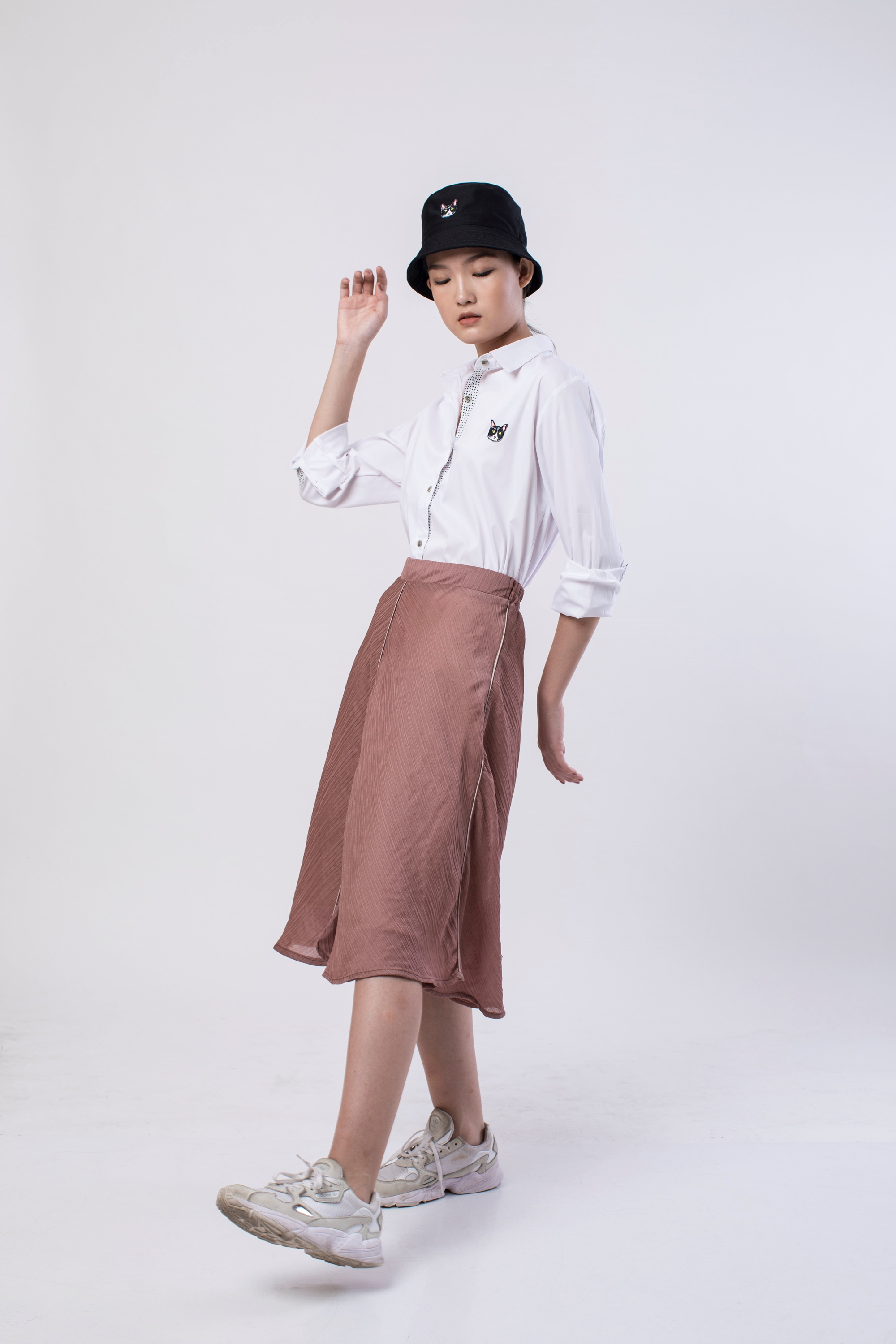 Picture of MARQUEZ PLEATS SKIRT MELLOW ROSE