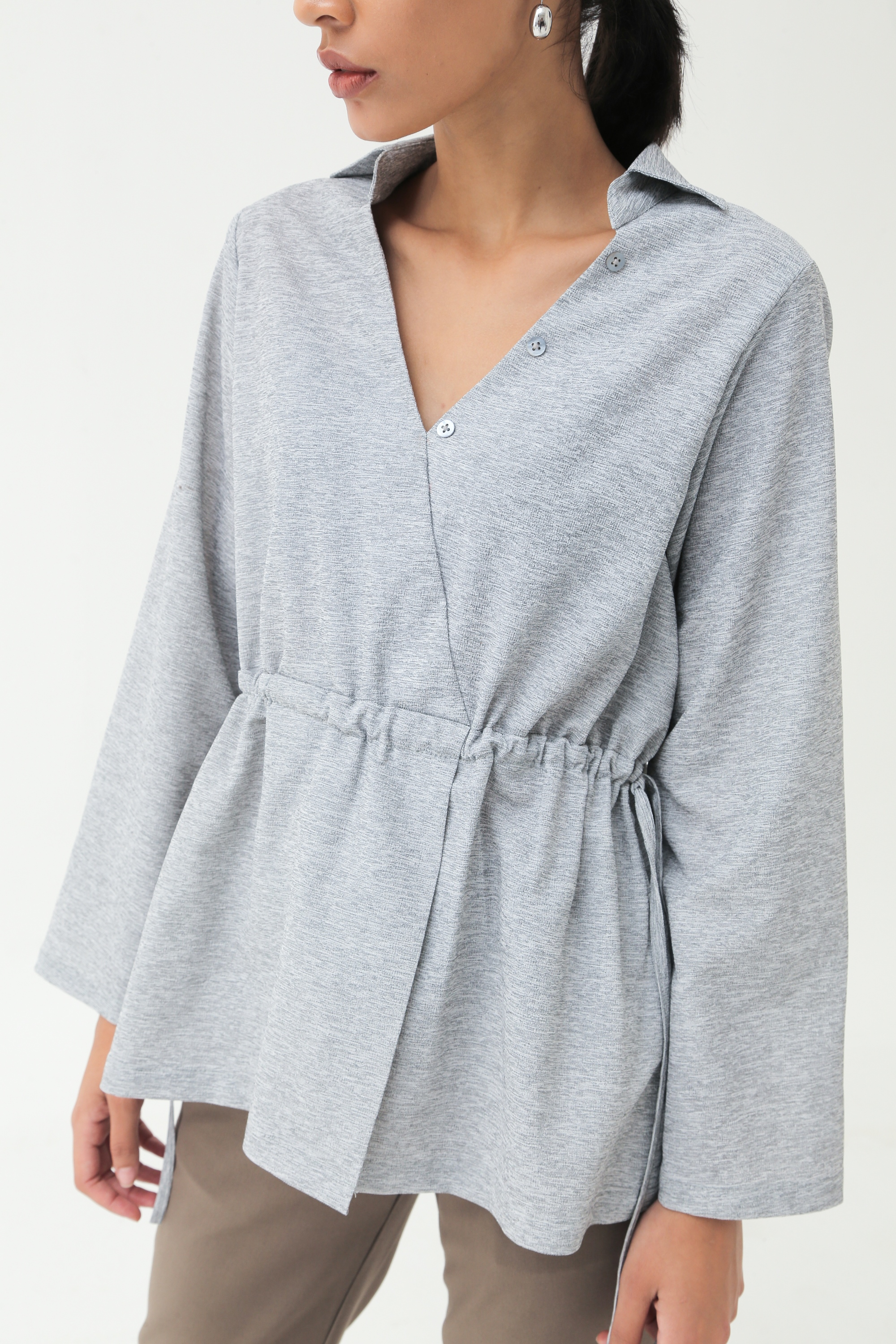 Picture of GIULIA BLOUSE GREY WOLLY