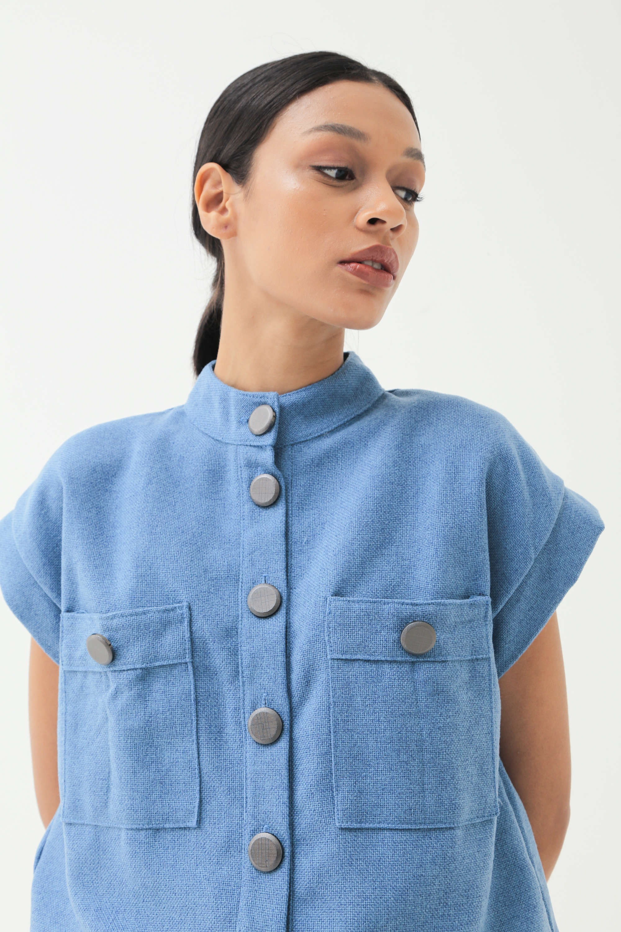 Picture of AUBURN TWEED BLOUSE BLUEJEANS