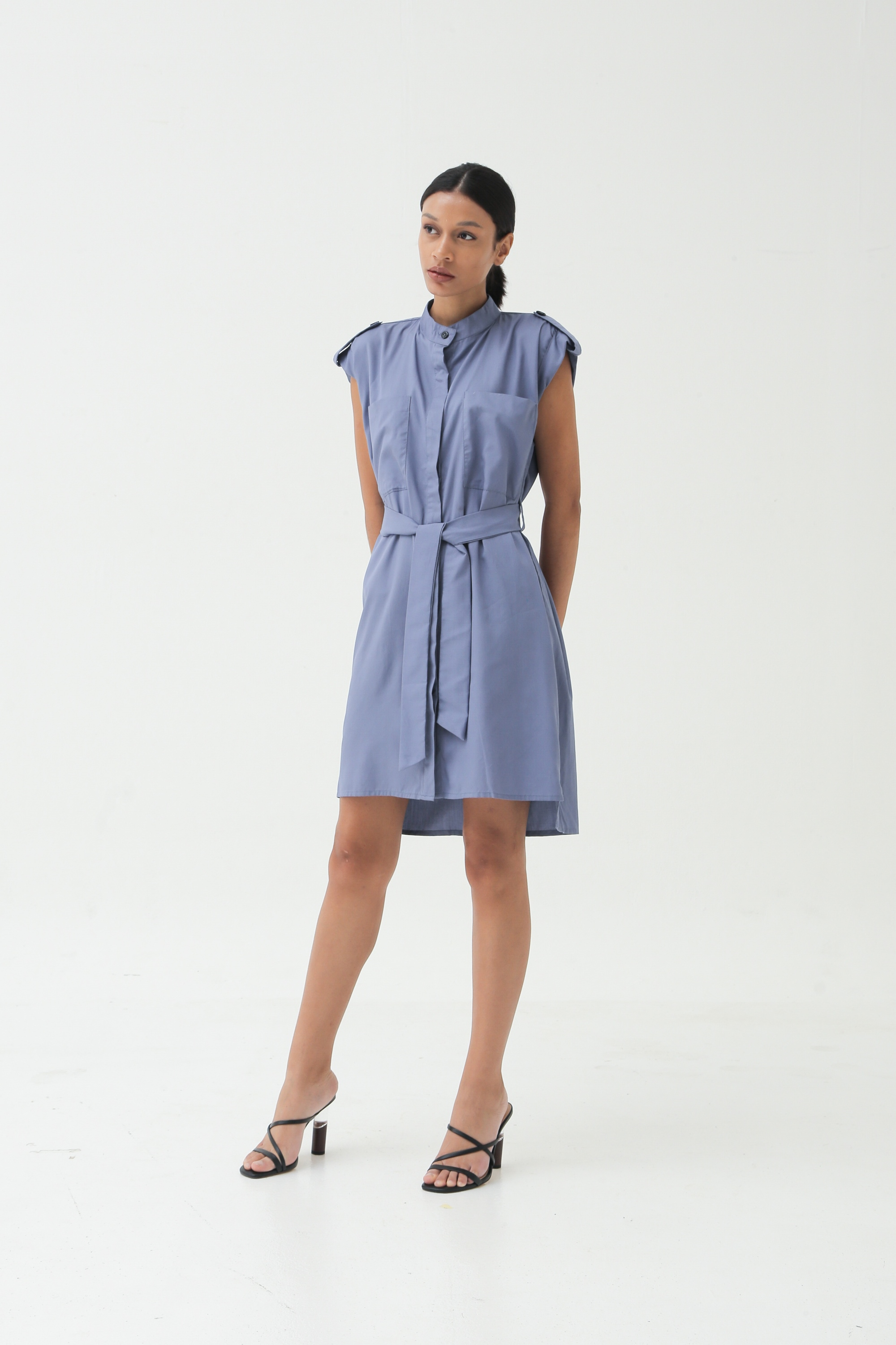 Picture of MOLITA DRESS MAUVEBLUE