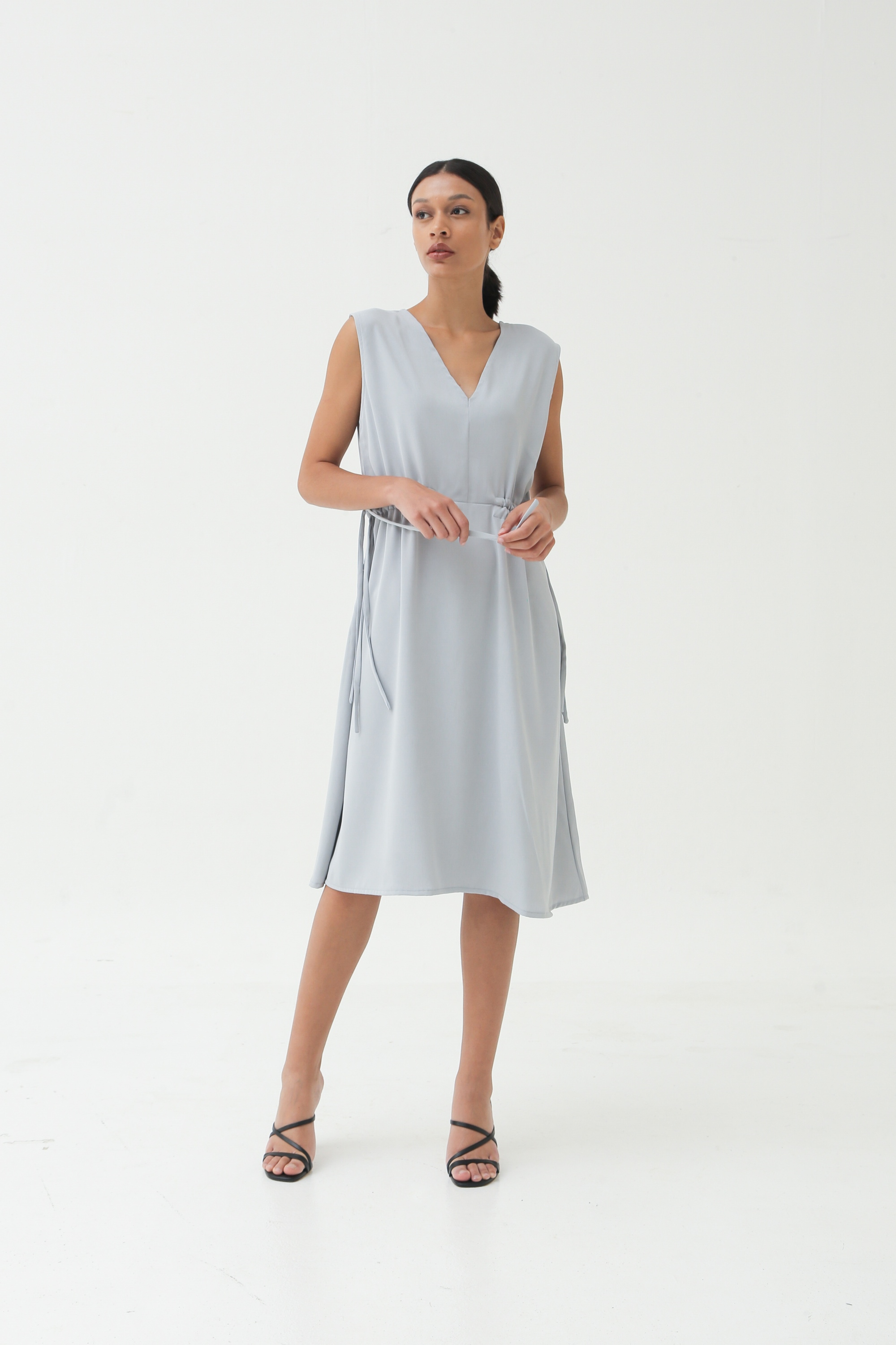 Picture of MARSHILLA DRESS BLUEISH GREY