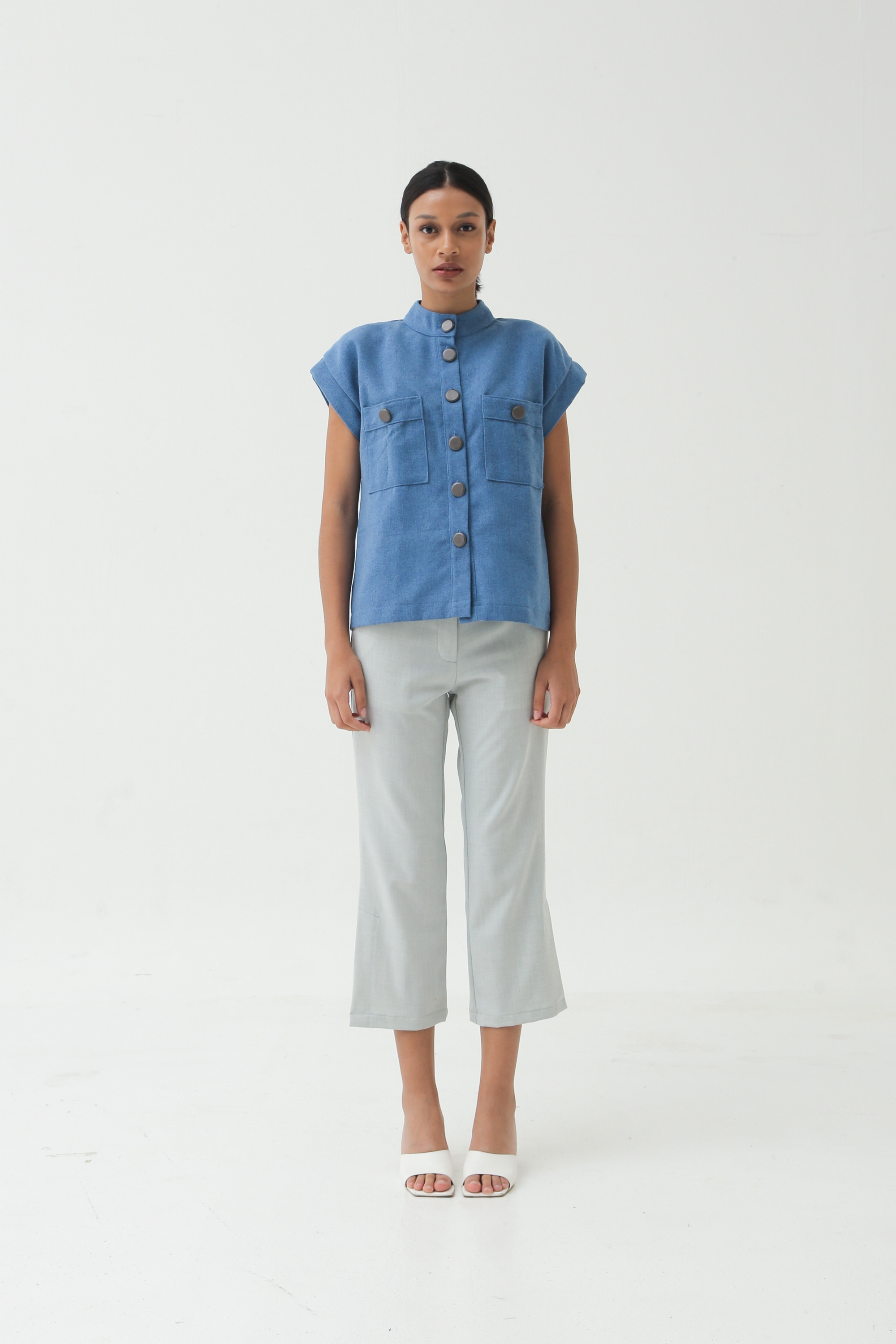 Picture of PLUMERIA TROUSER MISTY GREY