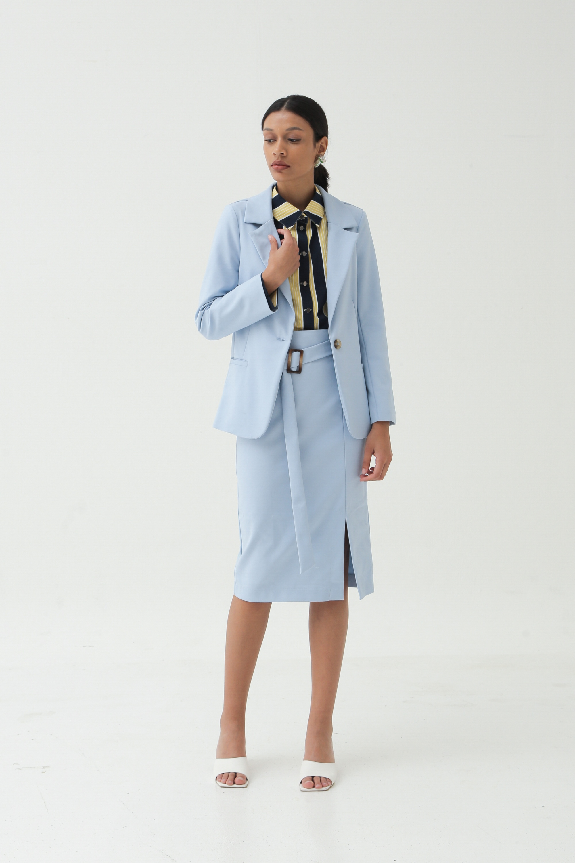 Picture of SHEHER BLAZER ALICE BLUE