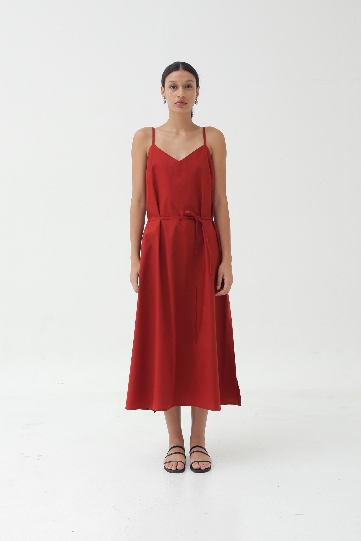 Picture of FLYN DRESS ORANGE BRICK
