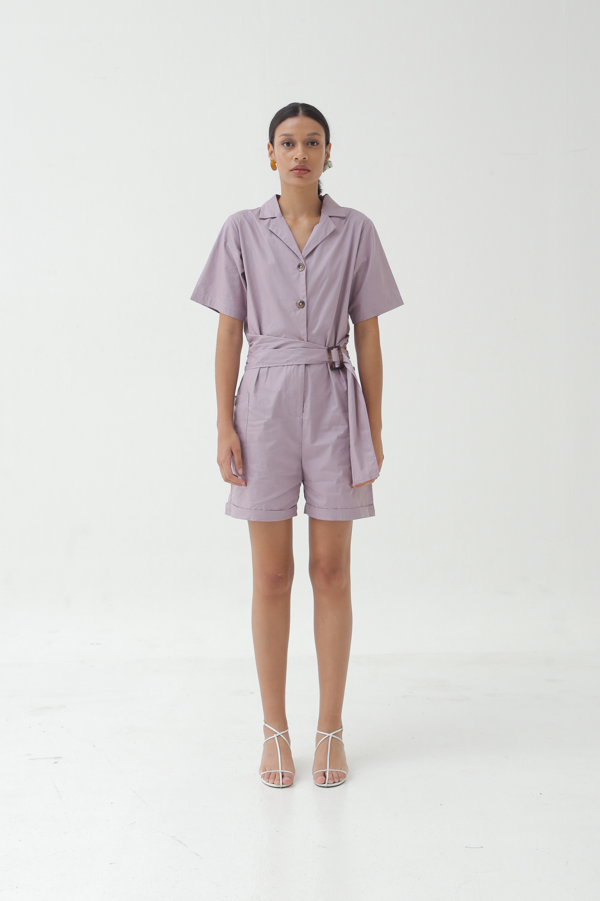 Picture of DARLENE PLAYSUIT SOFT LILAC