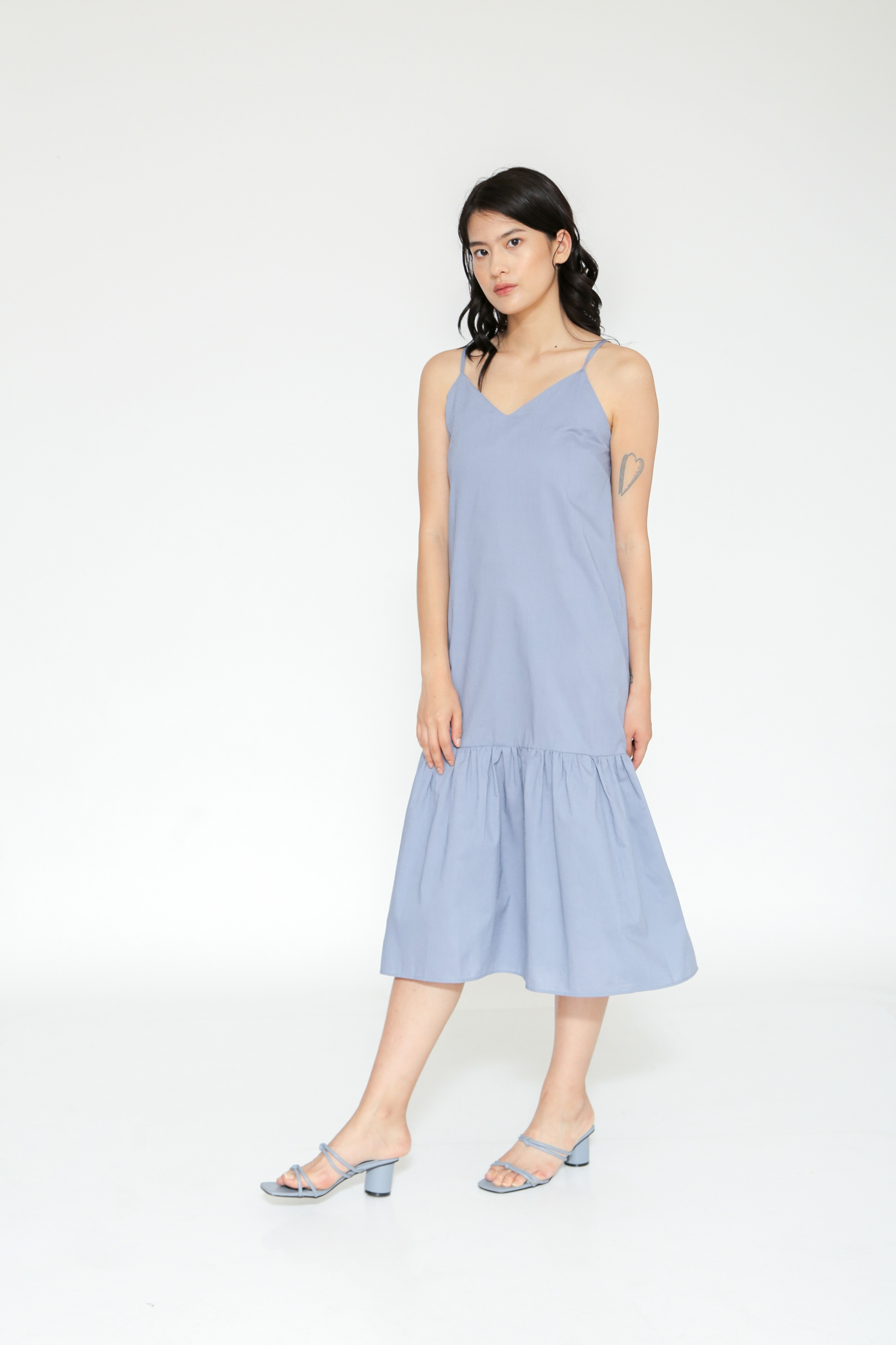 Picture of FLUENZA DRESS GREYISH BLUE