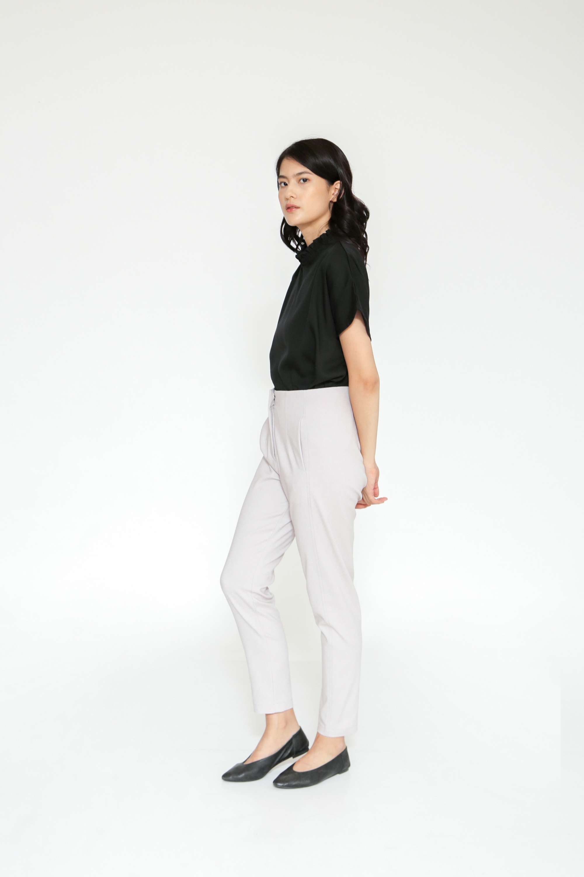 Picture of ERVIN PANTS  MISTY GREY
