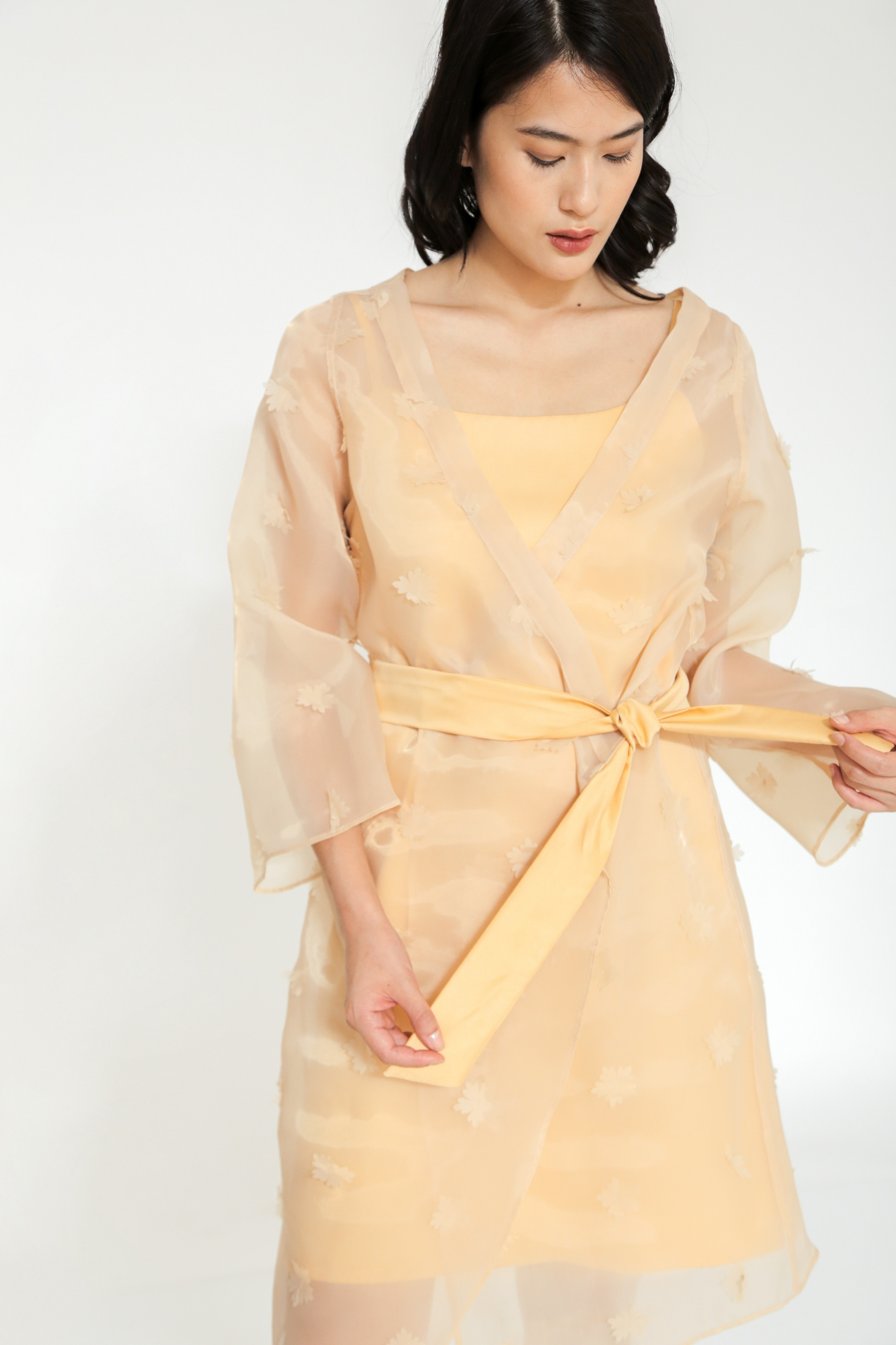 Picture of GERANIUM ORGANZA DRESS VENETIAN GOLD