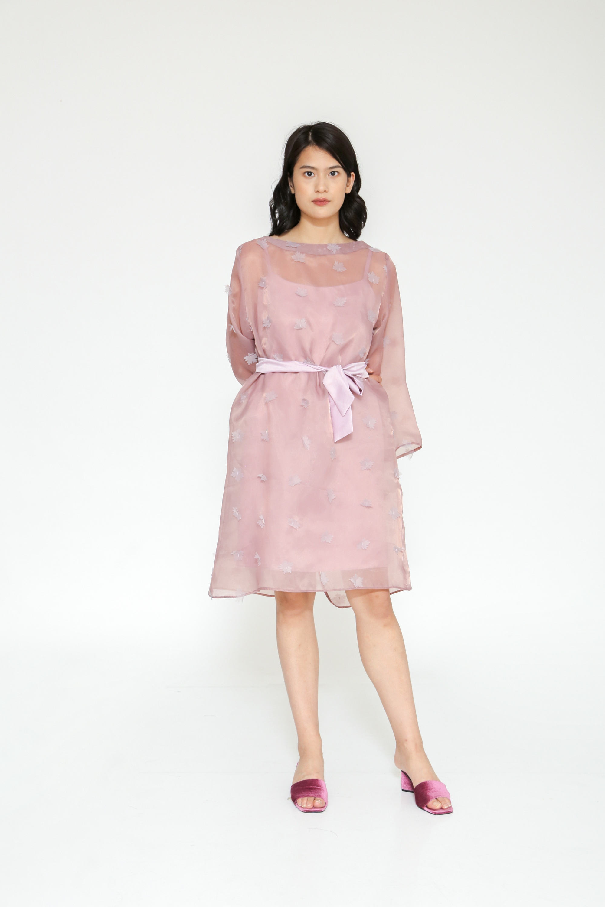 Picture of GERANIUM ORGANZA DRESS DUSTYLILAC