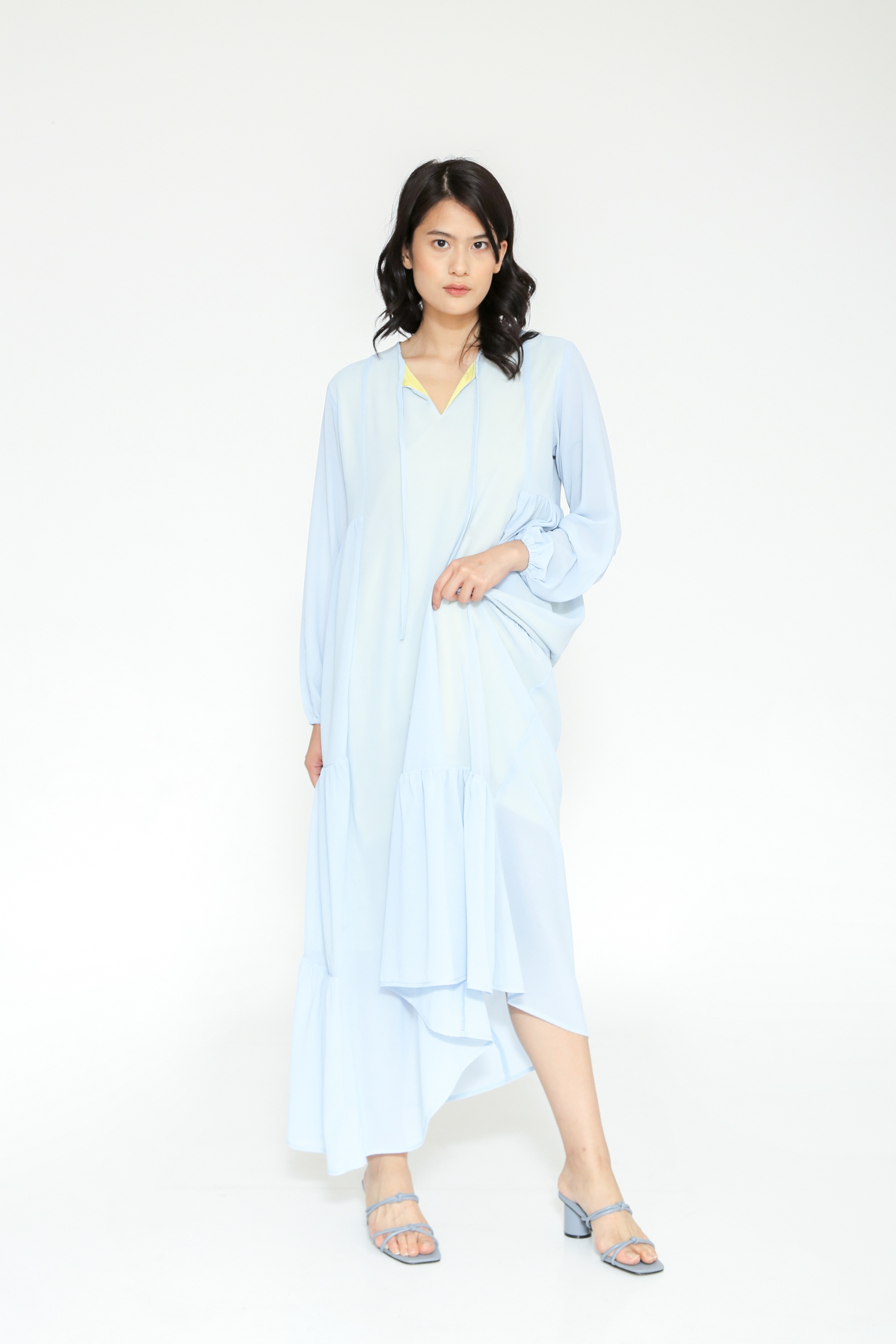 Picture of BEATRIX MAXI DRESS SKYBLUE YELLOW