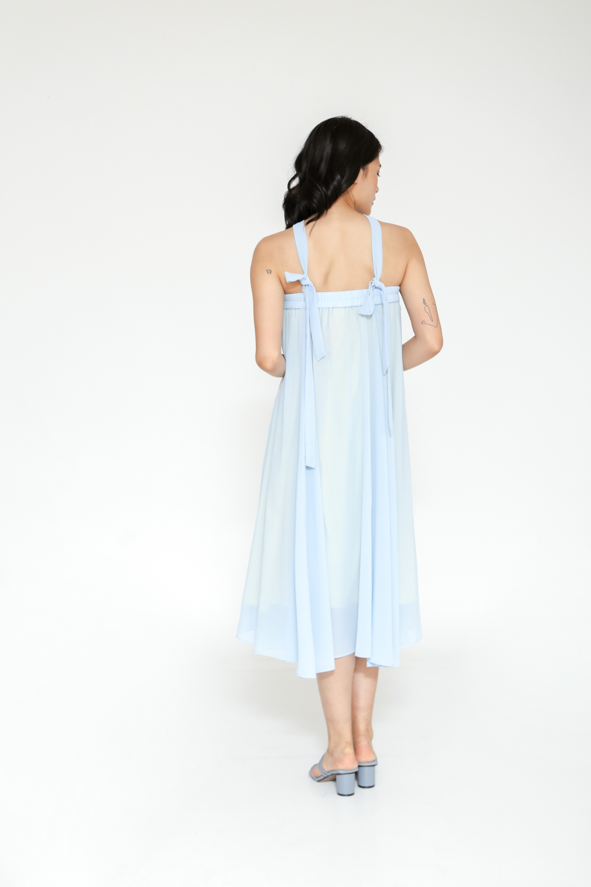 Picture of LIATRIS MAXI SKIRT SKYBLUE YELLOW