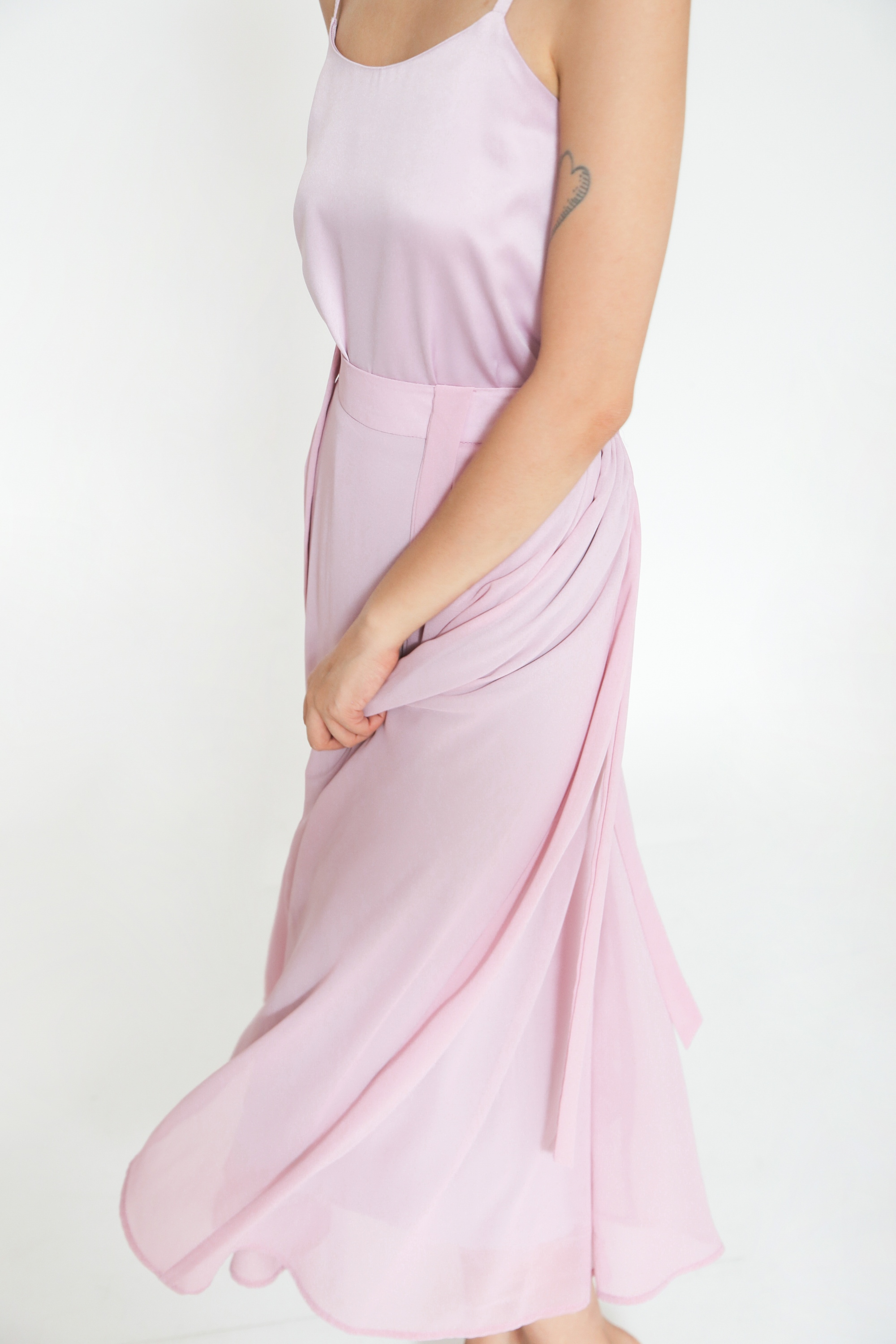 Picture of LIATRIS MAXI SKIRT PINK LILAC