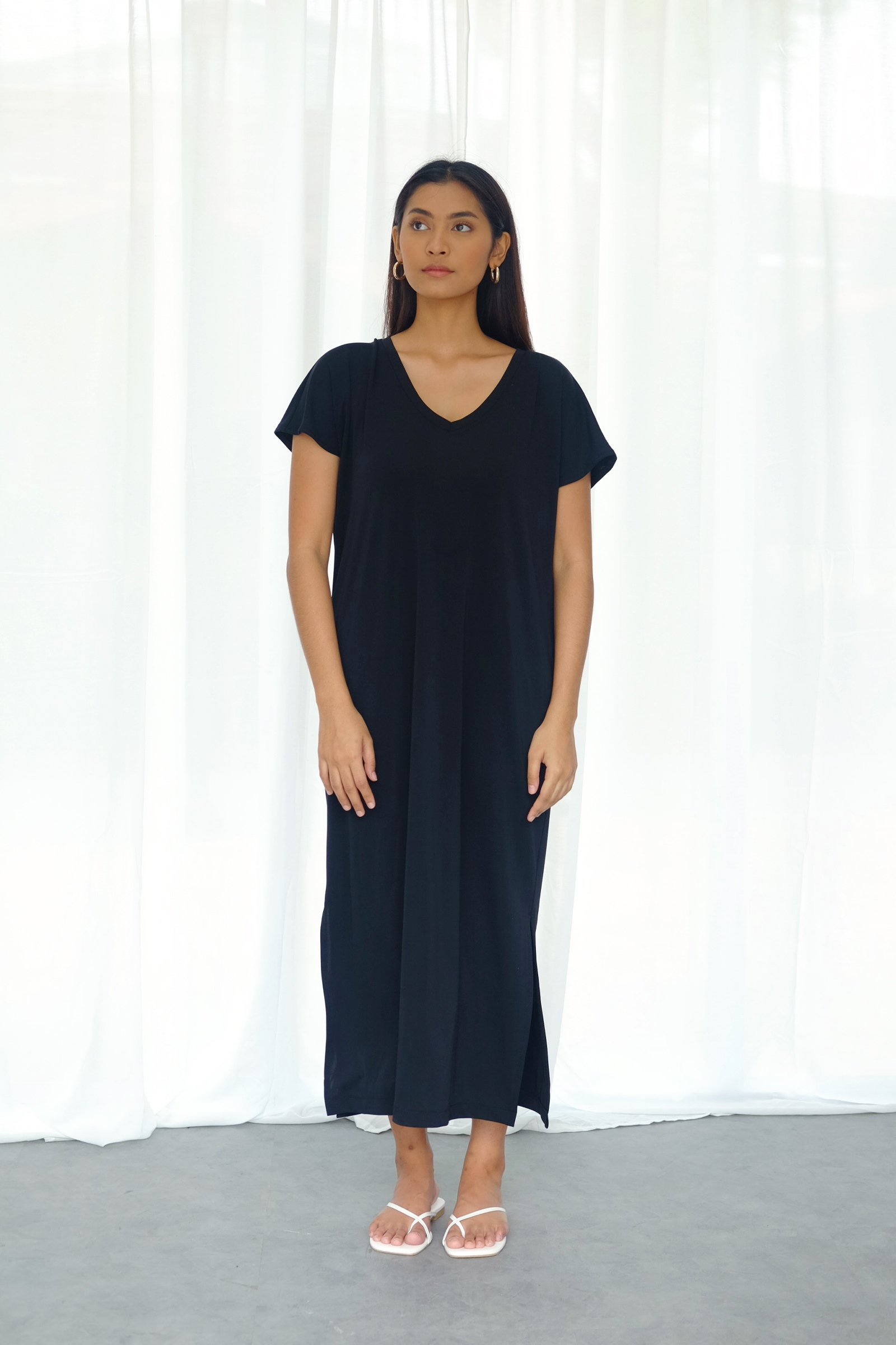 Picture of RACHEL T-SHIRT DRESS BLACK