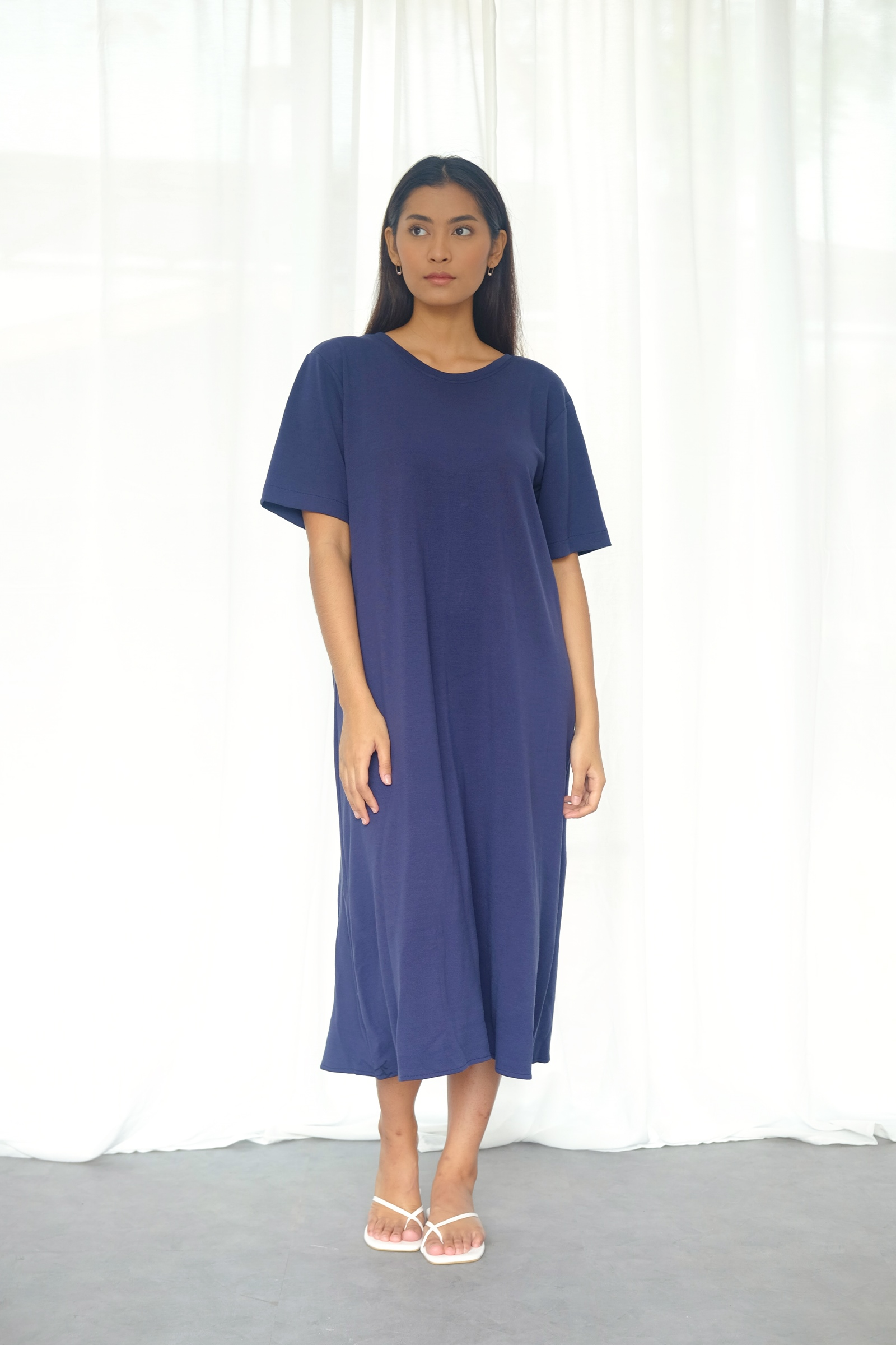 Picture of DANITA T-SHIRT  DRESS NAVY