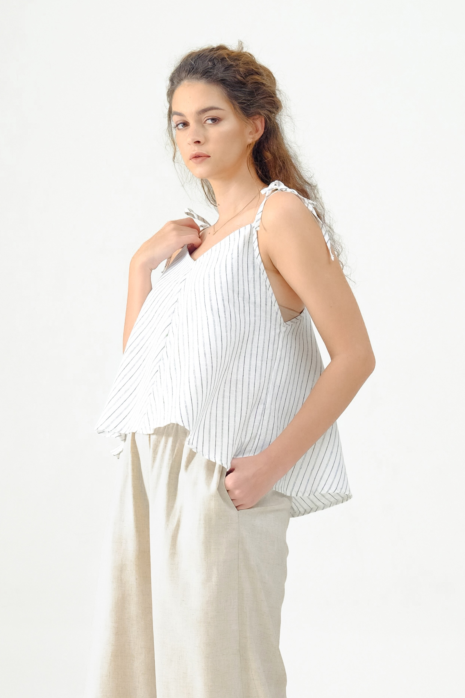 Picture of WELLINA TOP BLACK STRIPES
