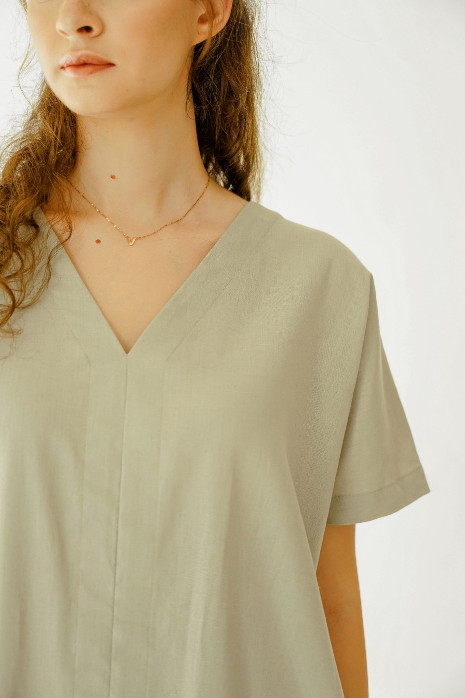 Picture of ALISTER DRESS GREENY GREY