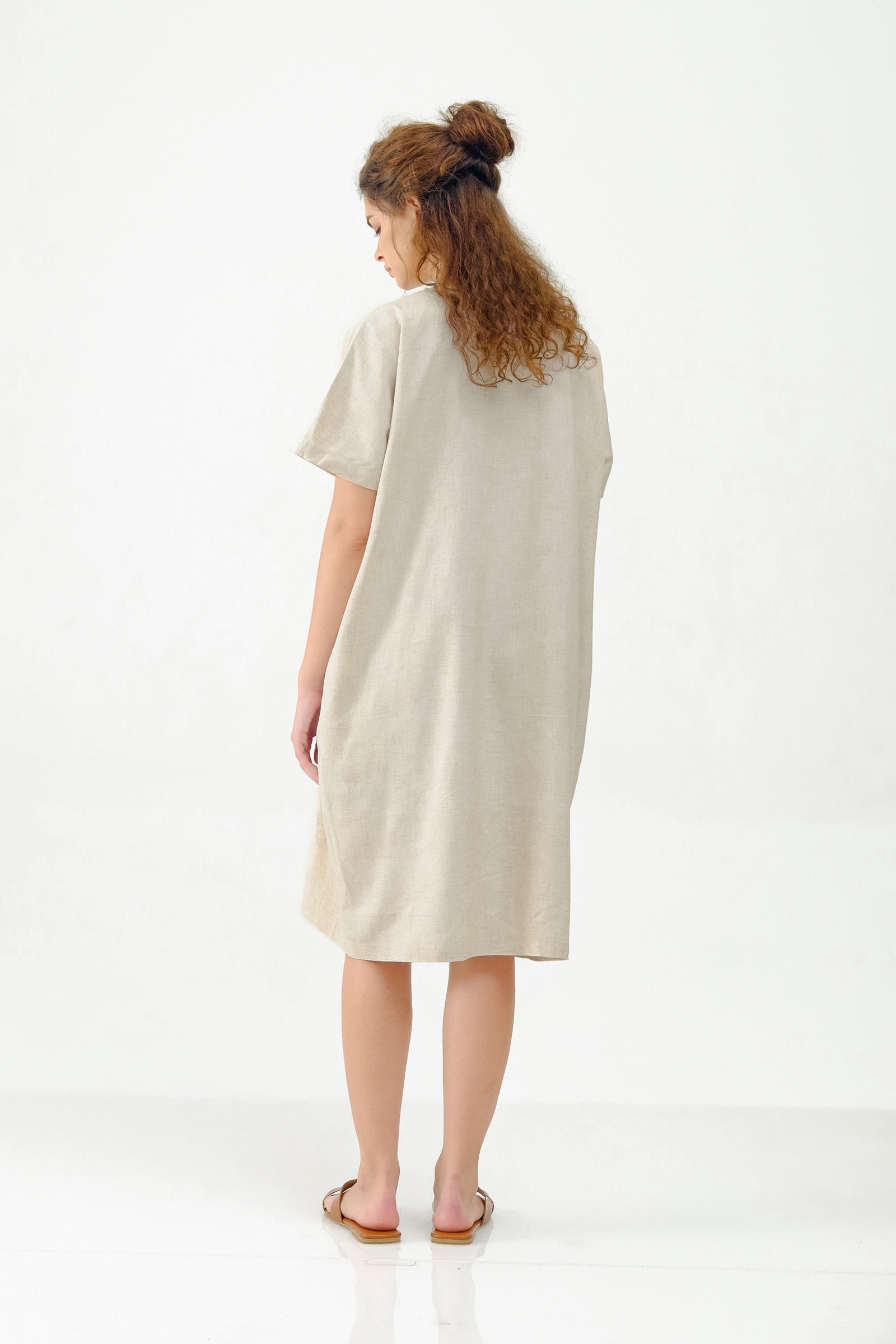 Picture of ALISTER DRESS CREAMY SANDS