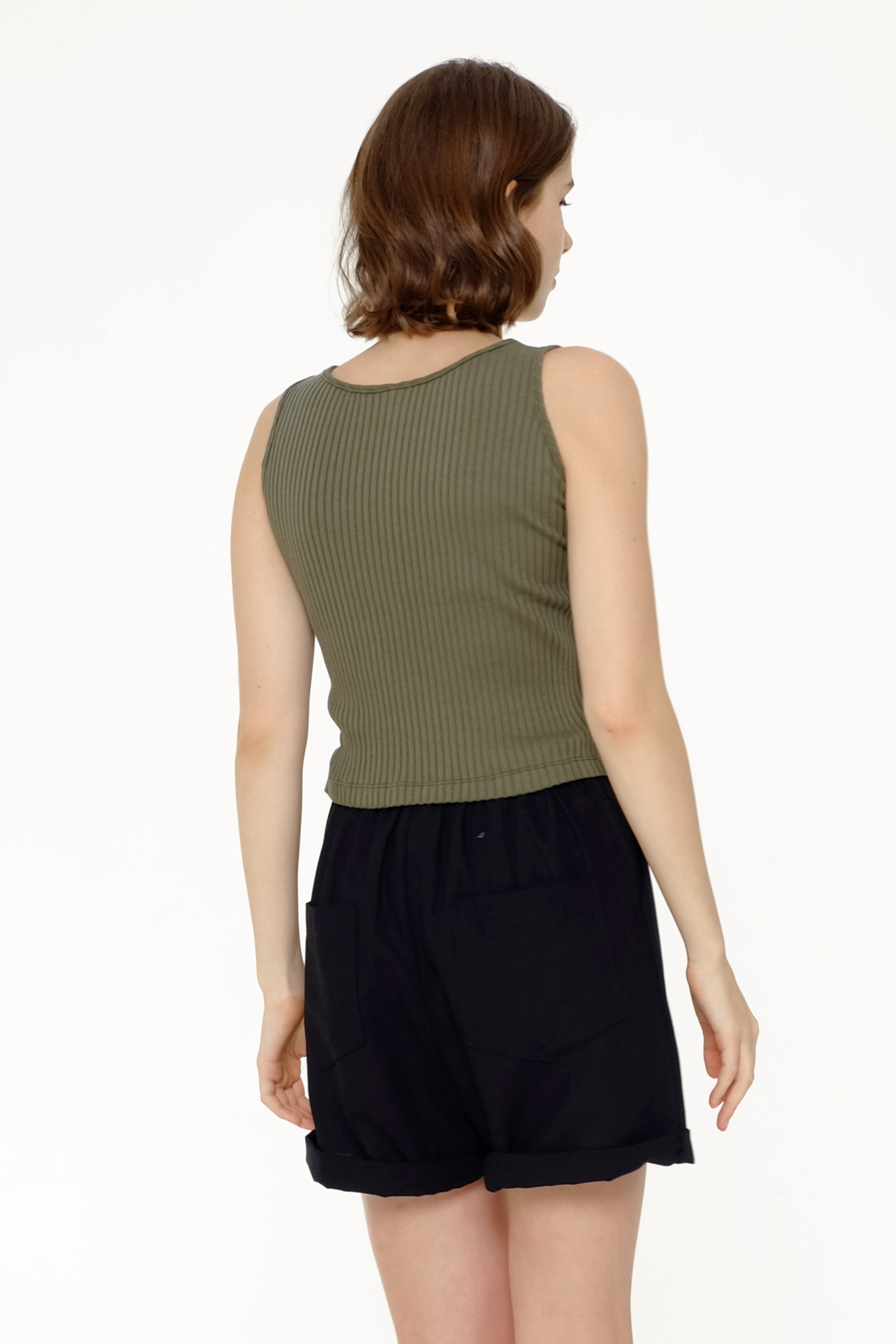 Picture of VALVETTA TANK TOP GREEN DILL
