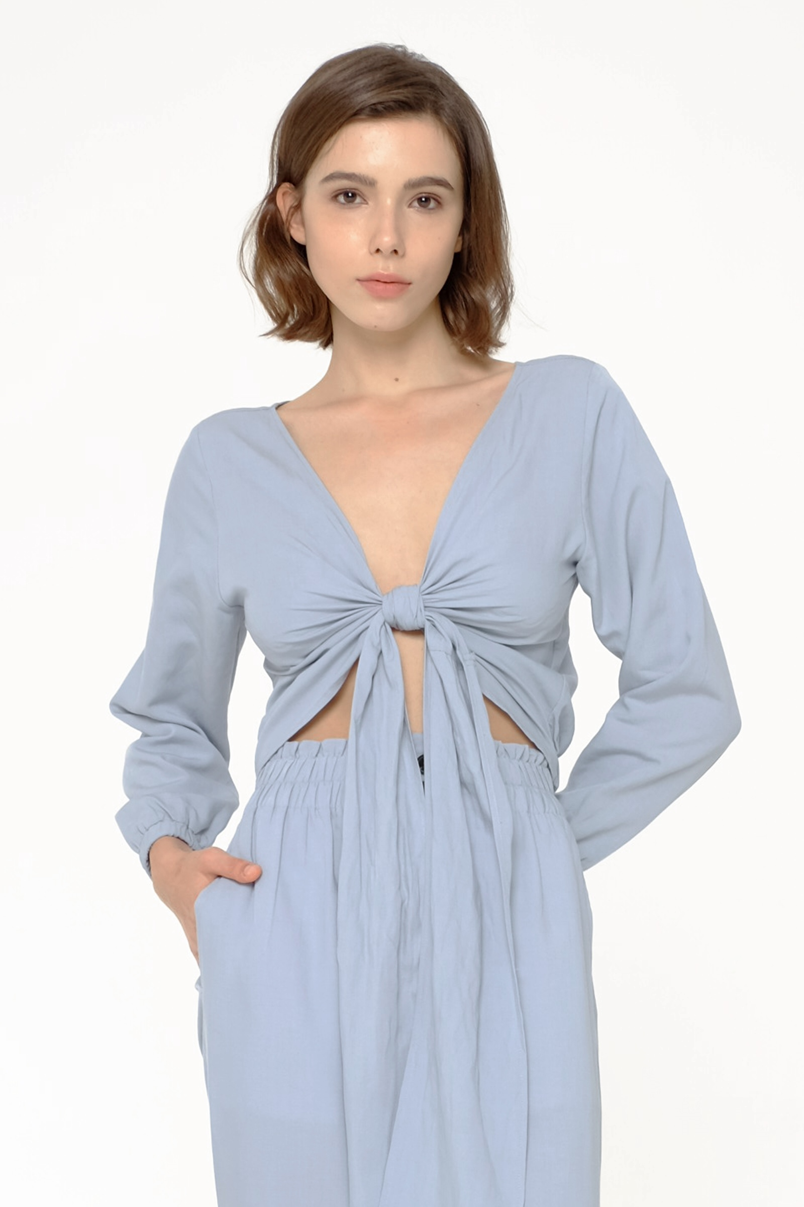 Picture of VEERA BLOUSE OPAL BLUE
