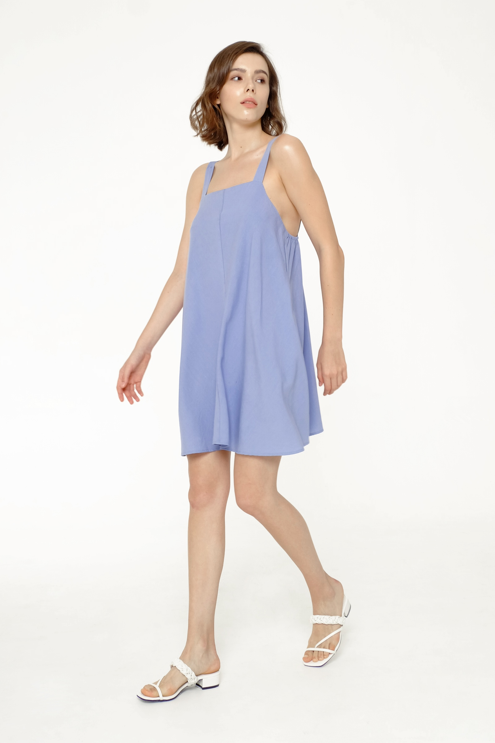 Picture of MOLLIE DRESS DUSTY BLUE