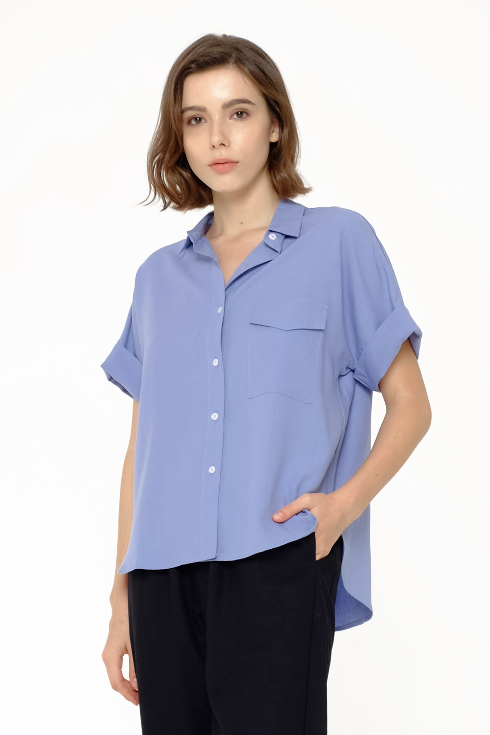Picture of GEORGIS SHIRT DUSTY BLUE