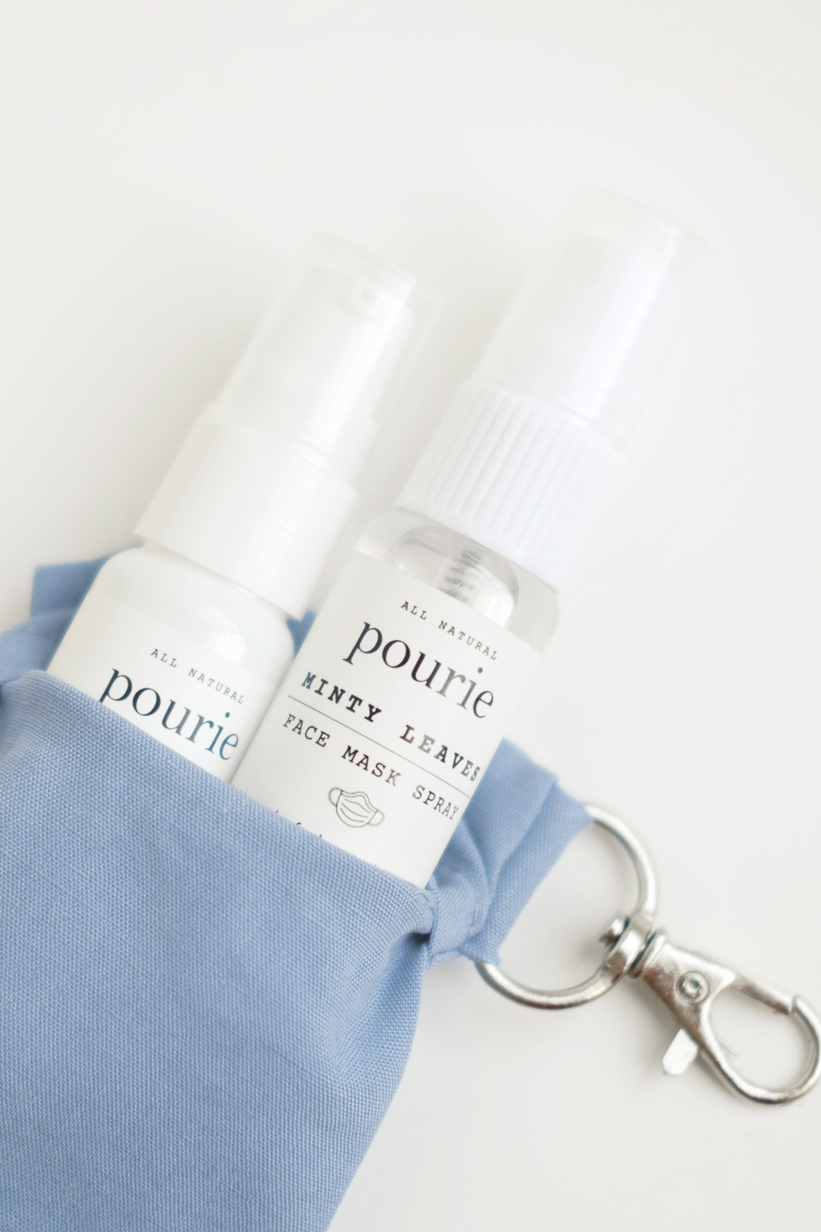 Picture of Kivee Home x Pourie Sanitizer And Face Mask Kit (Mask In Dusty Blue)