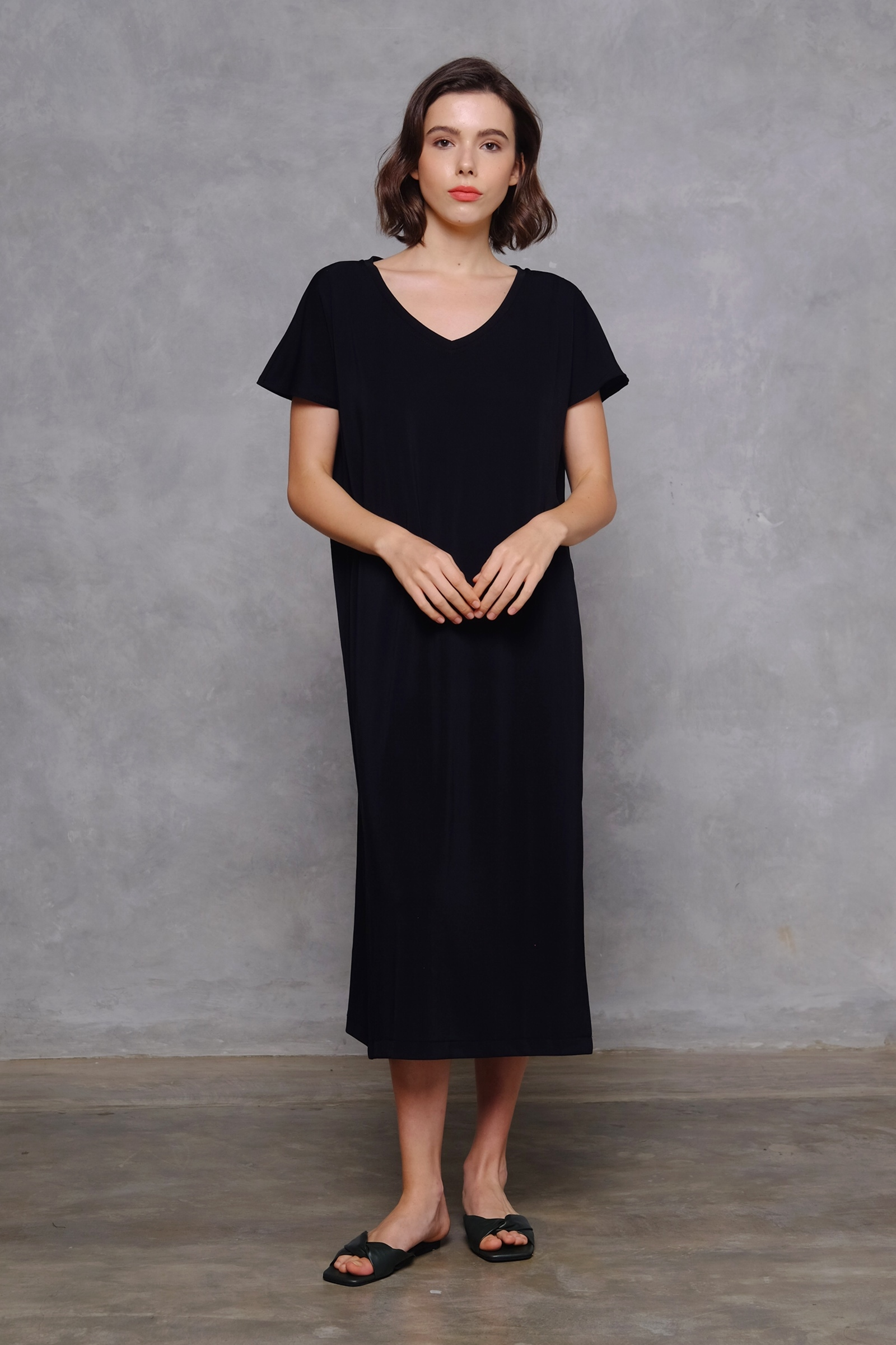 Picture of RACHEL T-SHIRT DRESS BLACK