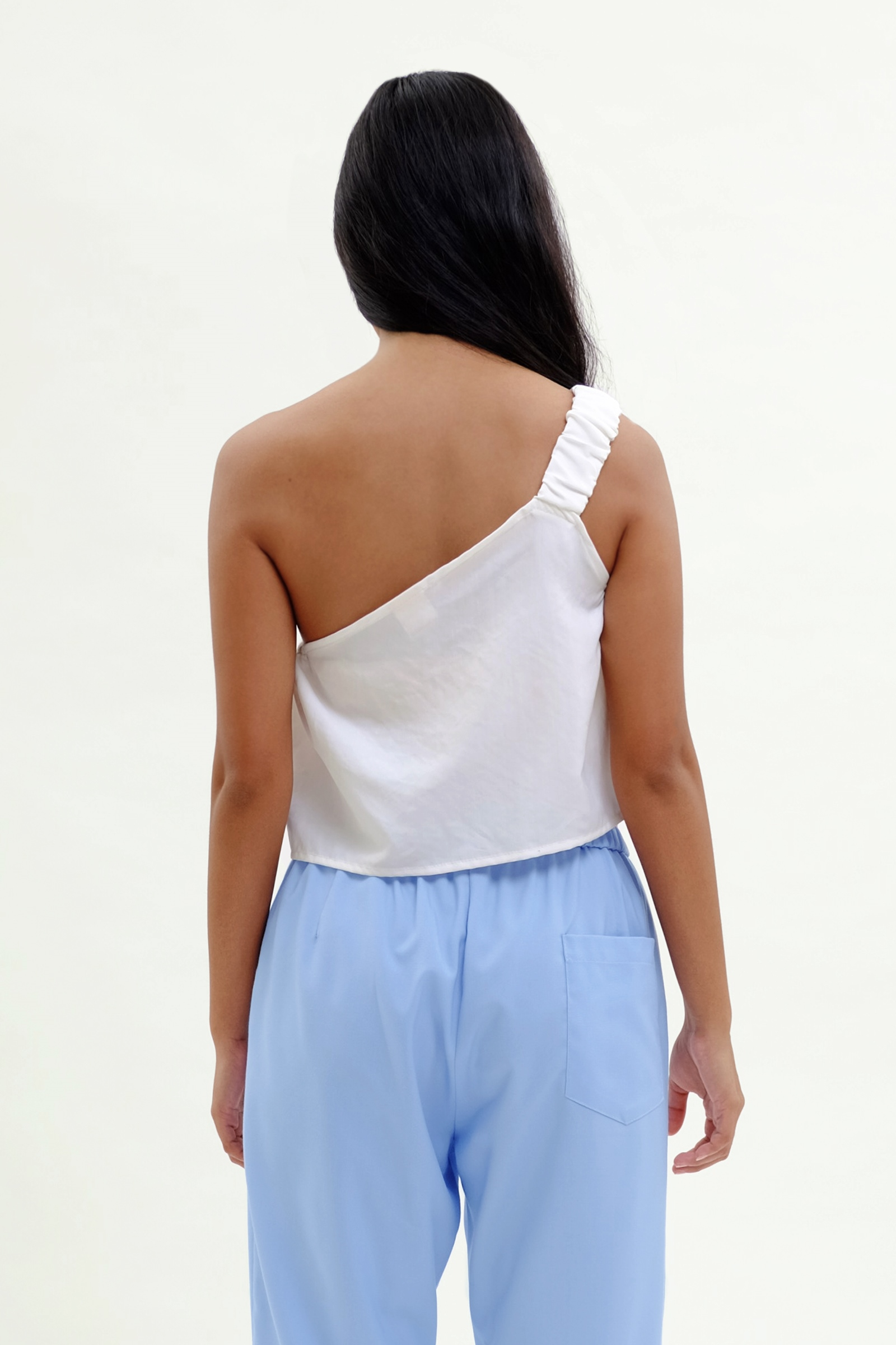 Picture of Lavey One Shoulder Top Ivory