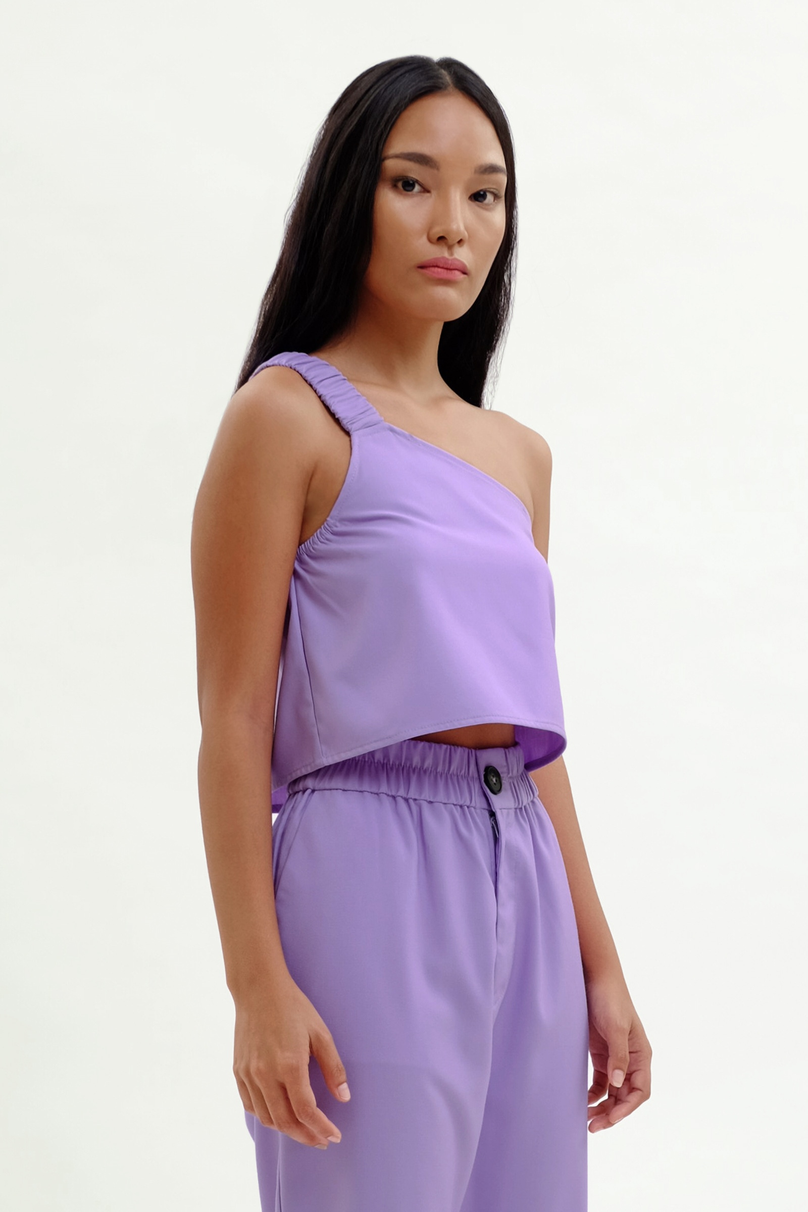 Picture of Lavey One Shoulder Top Sheer Lilac