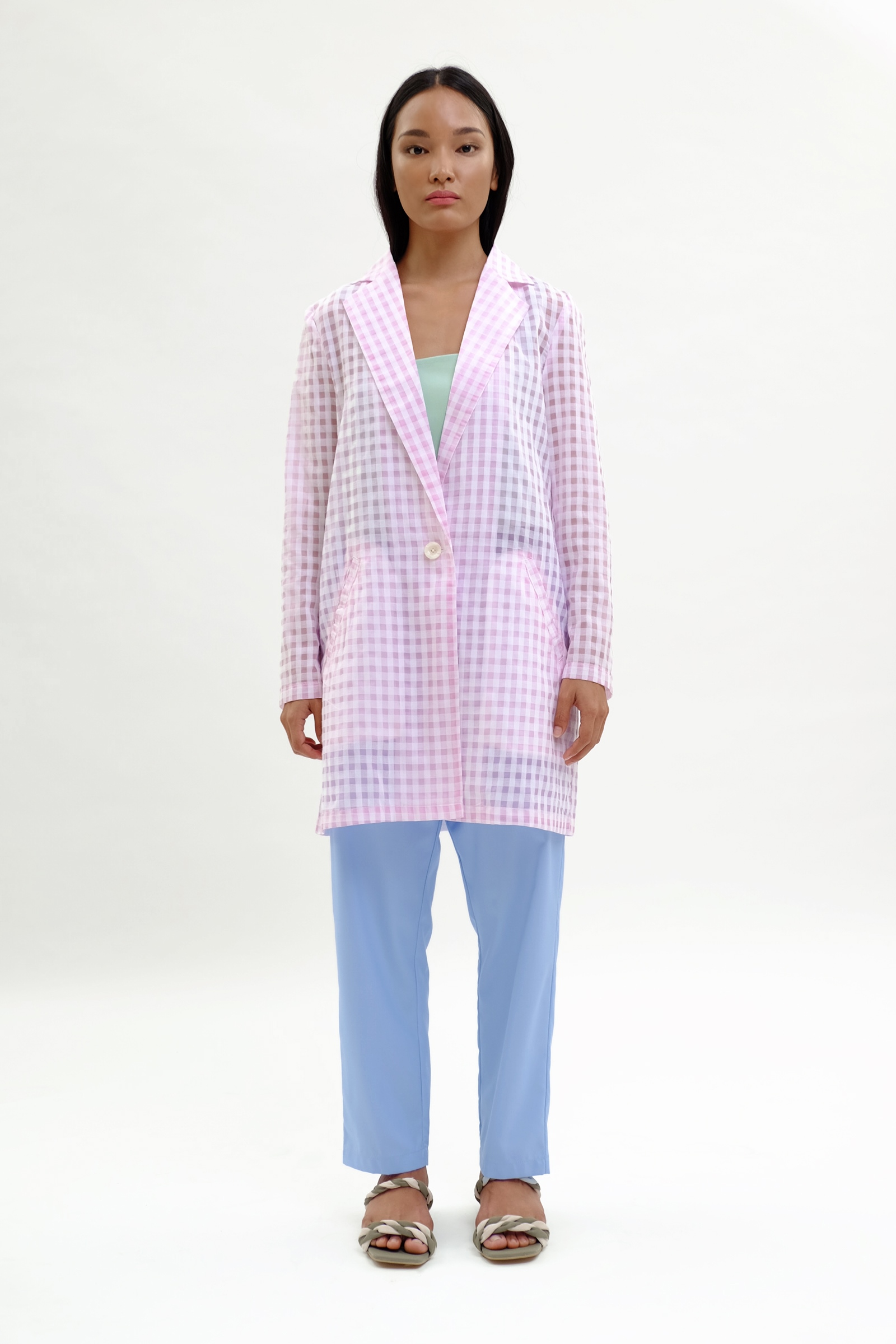 Picture of Adallyn Jacket Bubble Gum Checker