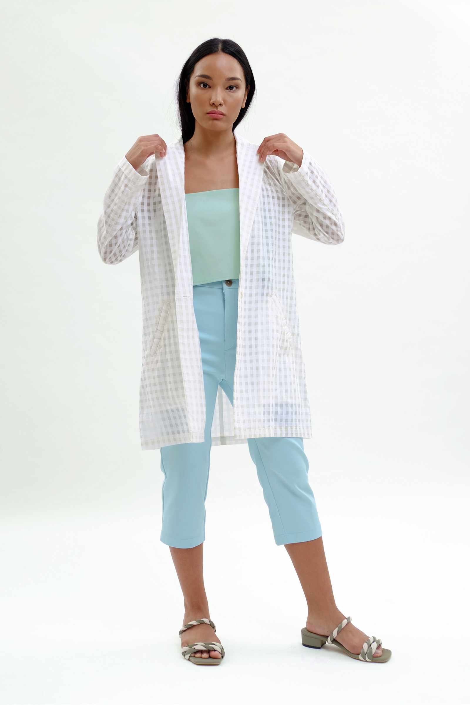 Picture of Adallyn Jacket Ivory Checker