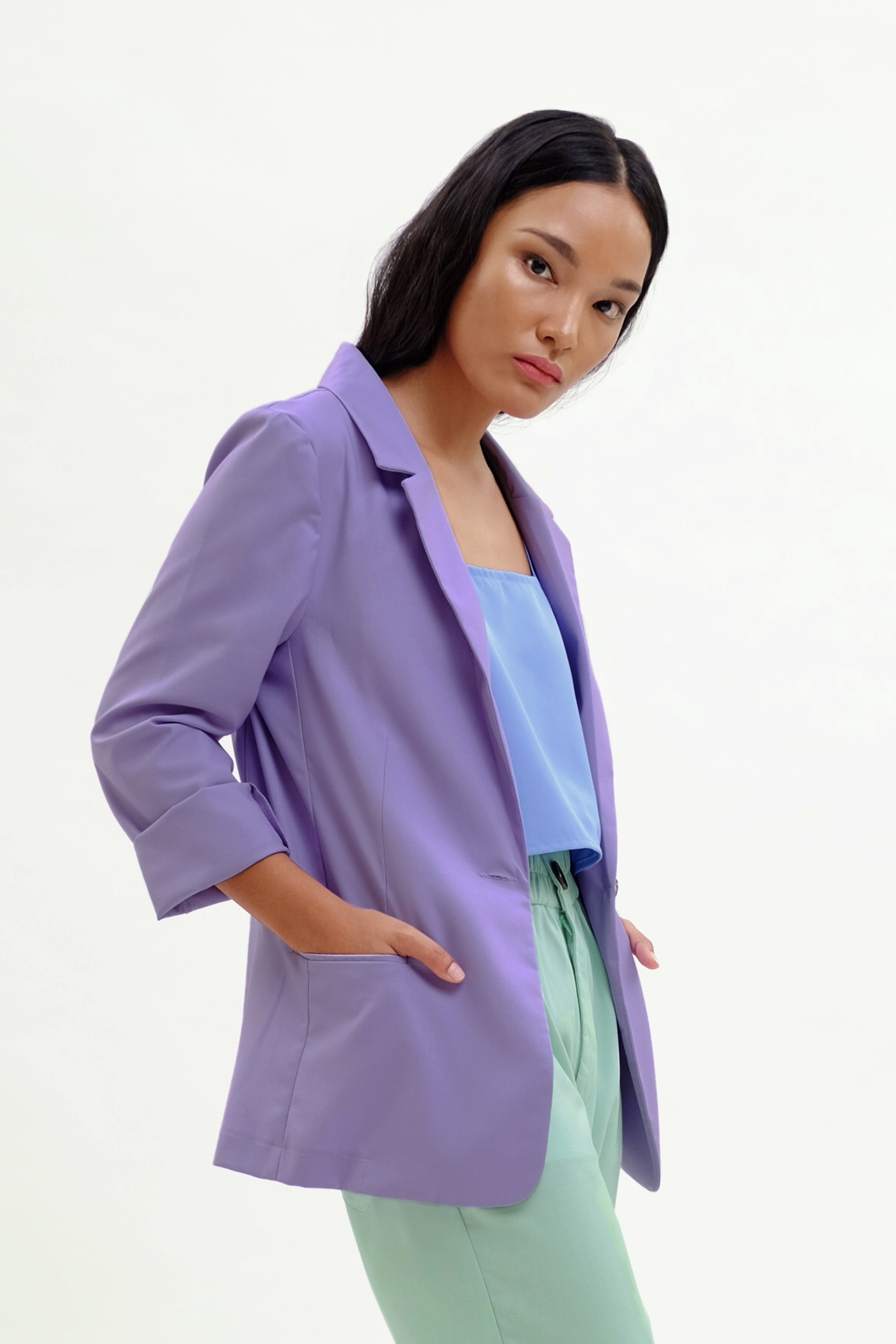 Picture of Payton Blazer Sheer Lilac