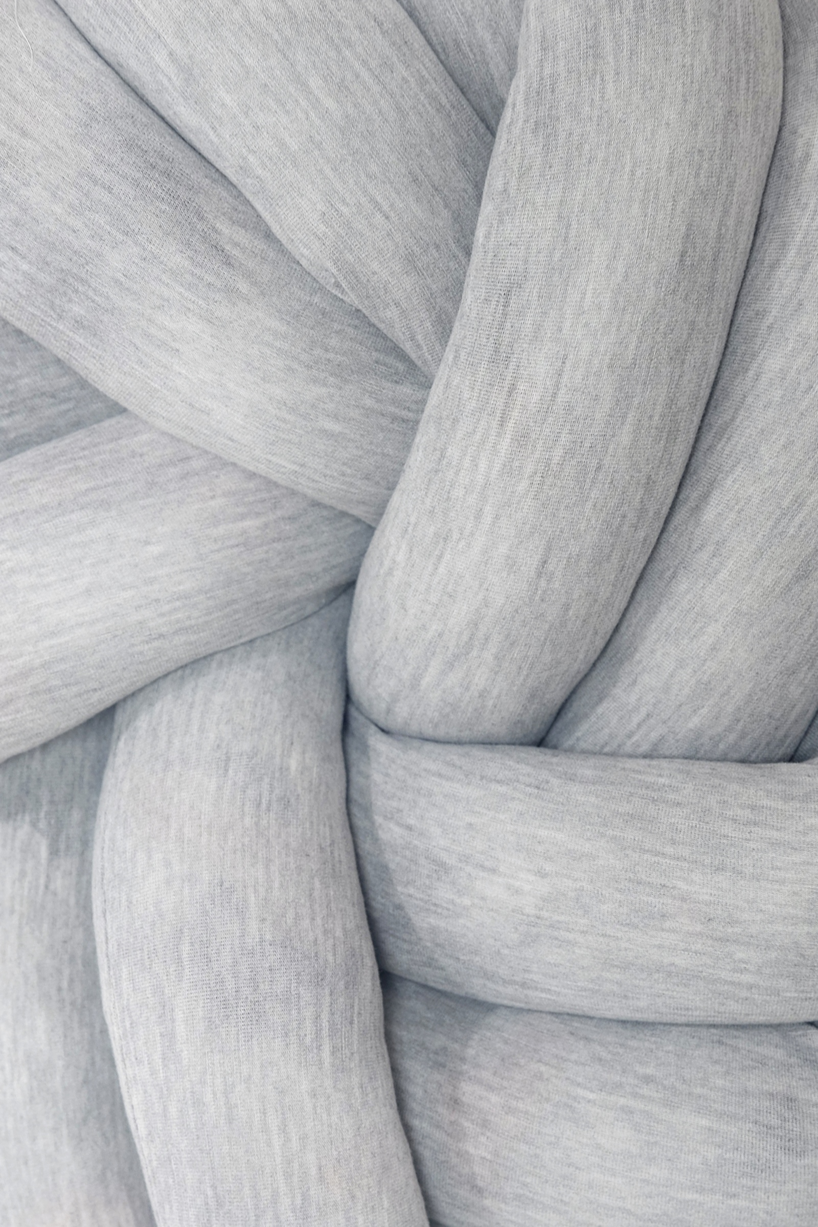 Picture of IBU KNOTTED PILLOW MISTY GREY