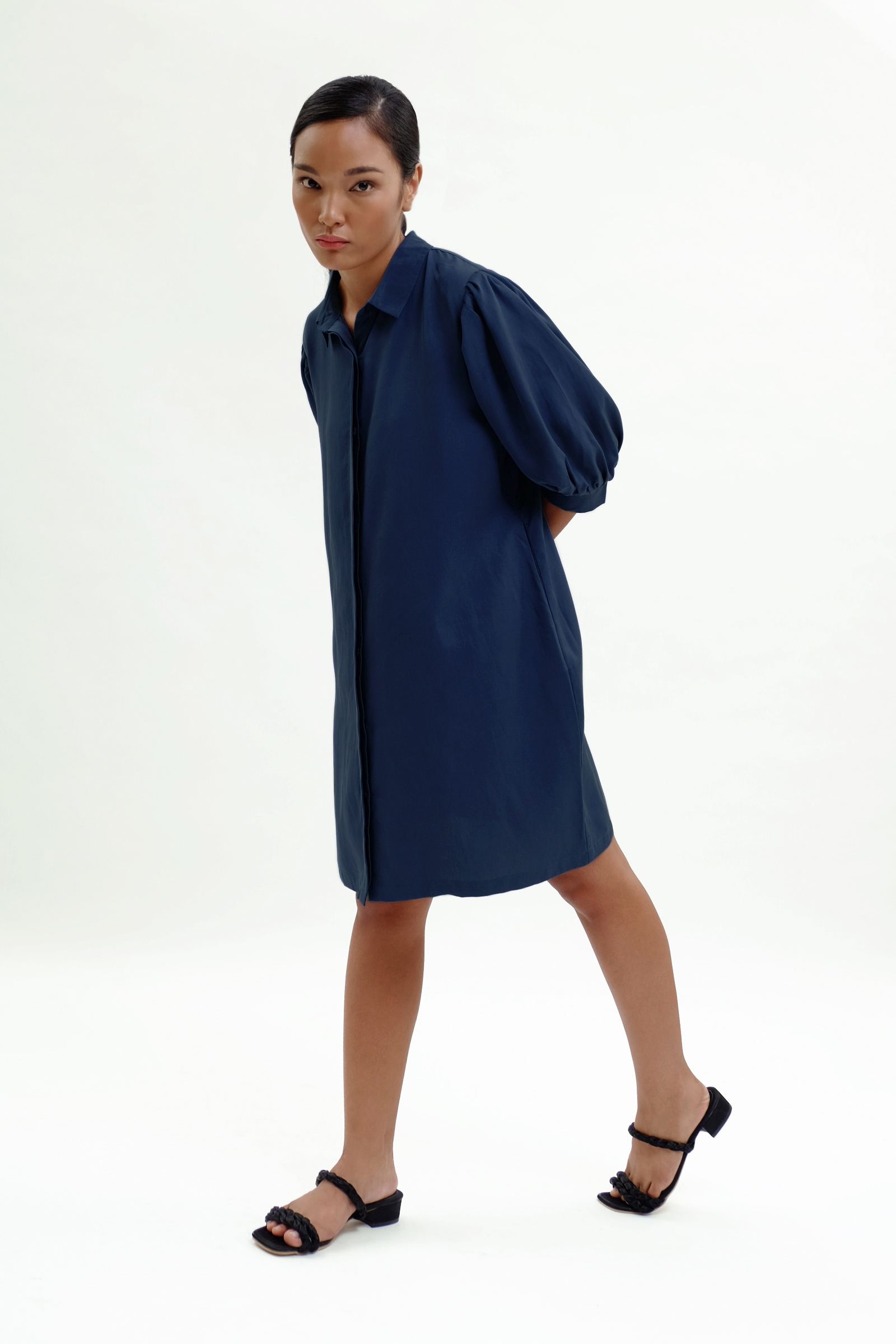 Picture of Aulia Dress Navy Classic
