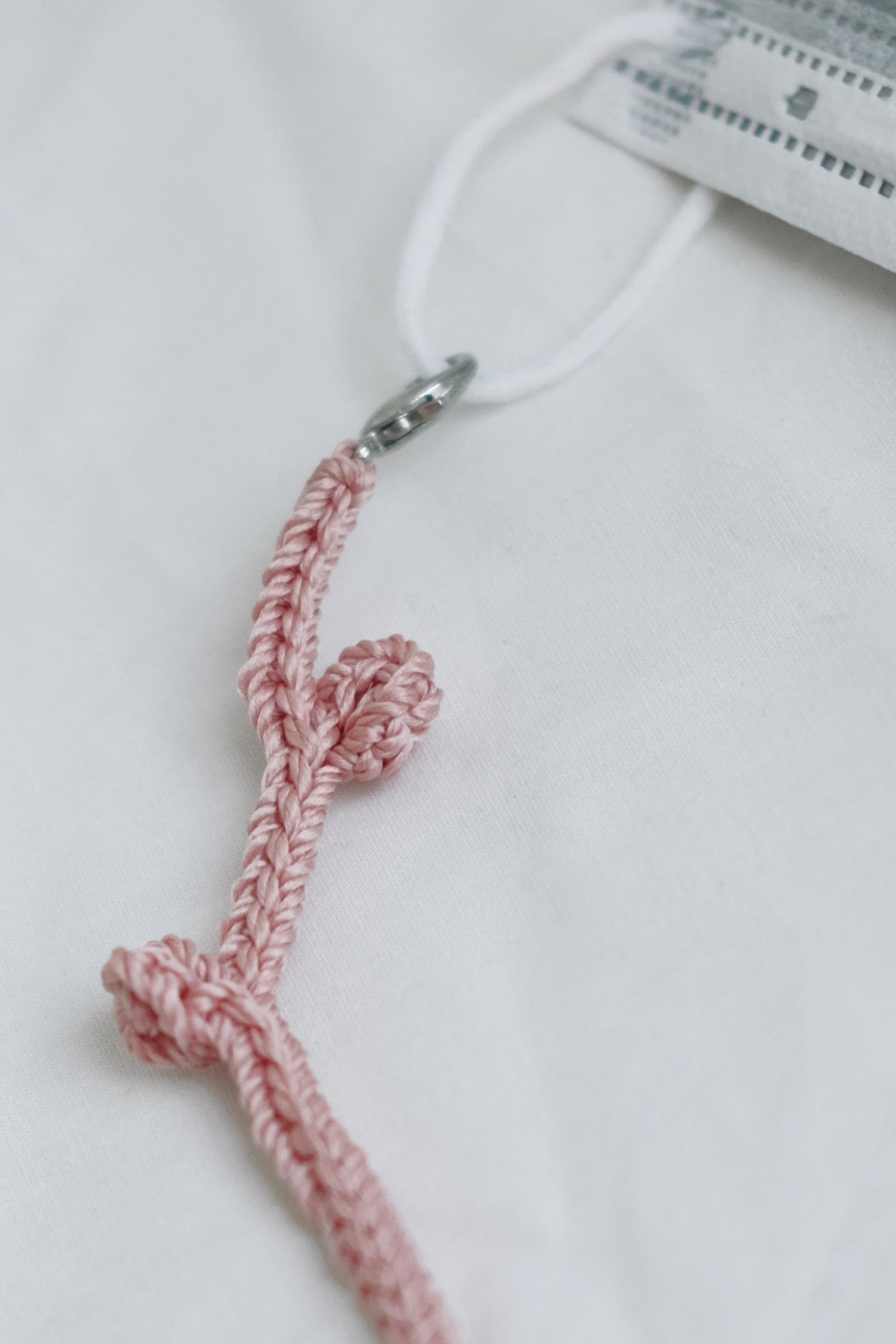 Picture of Handmade Crochet Mask Strap Pinkblush